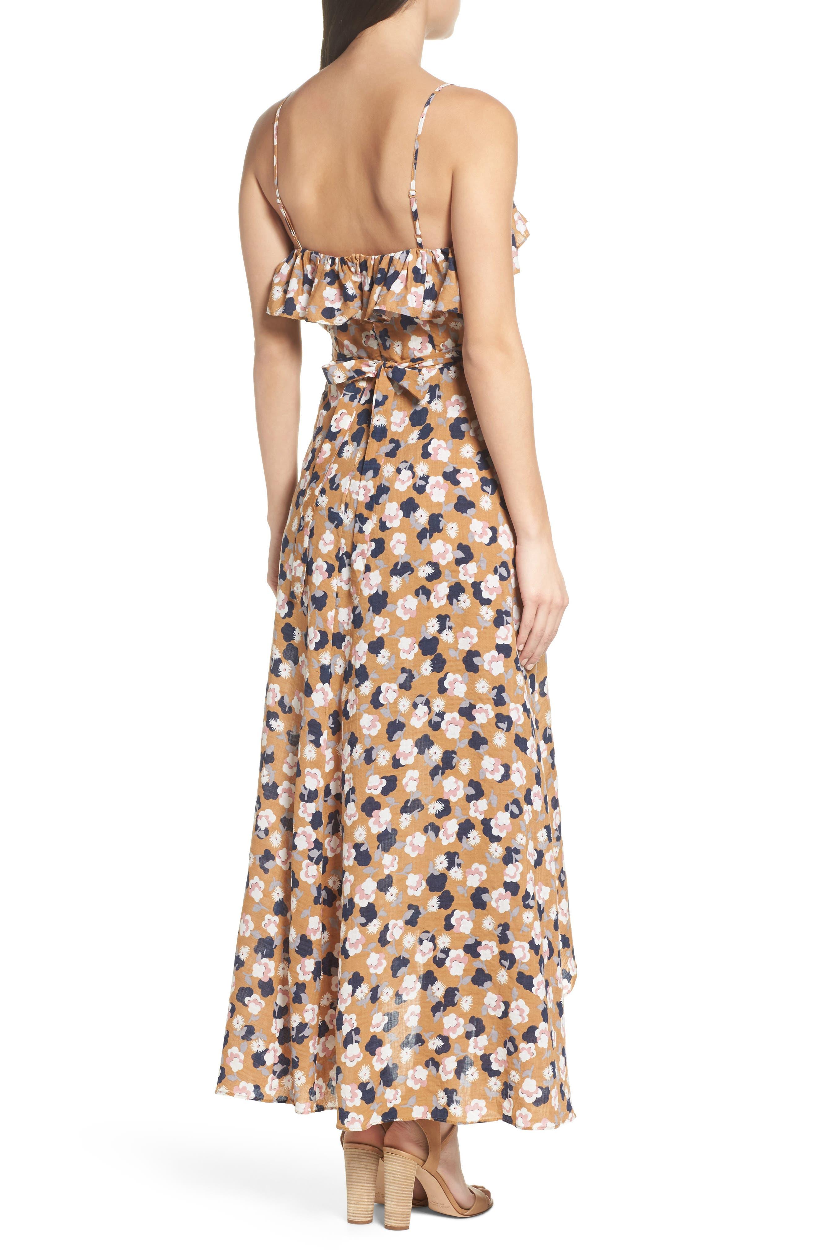 Floral Maxi Dress,                             Alternate thumbnail 2, color,                             750