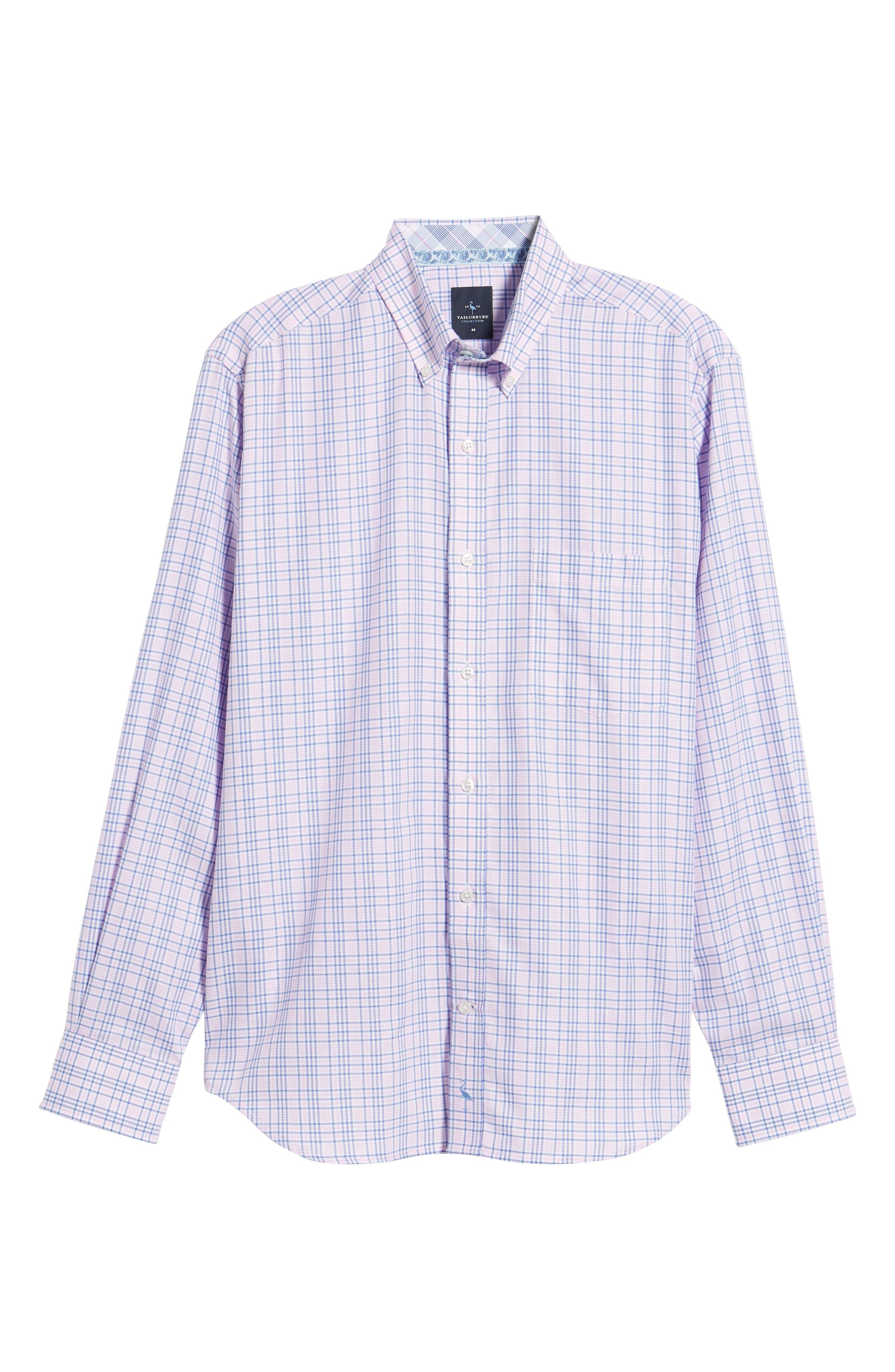 Barry Regular Fit Plaid Sport Shirt,                             Alternate thumbnail 6, color,                             650