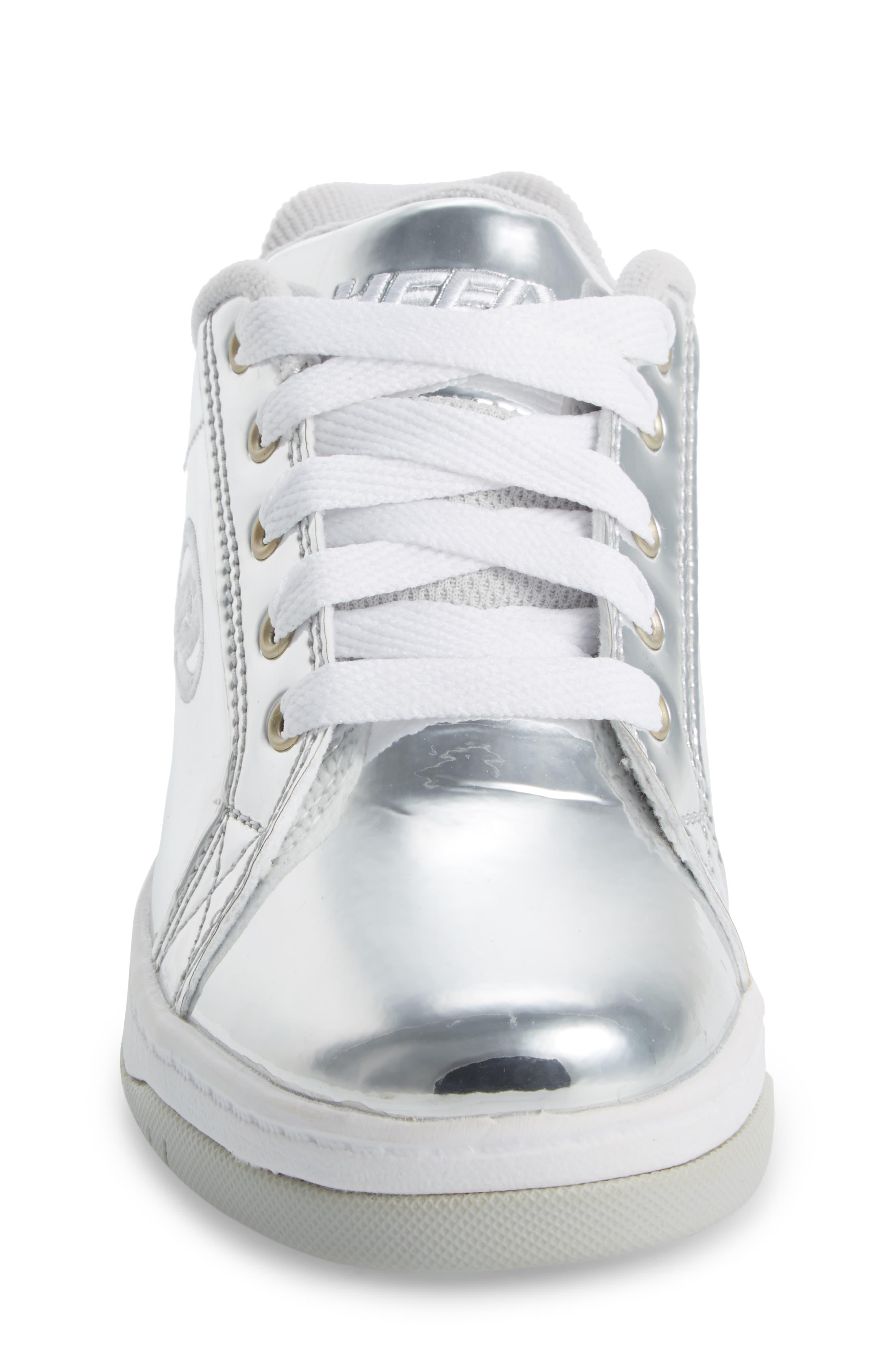 Split Skate Sneaker,                             Alternate thumbnail 4, color,                             SILVER