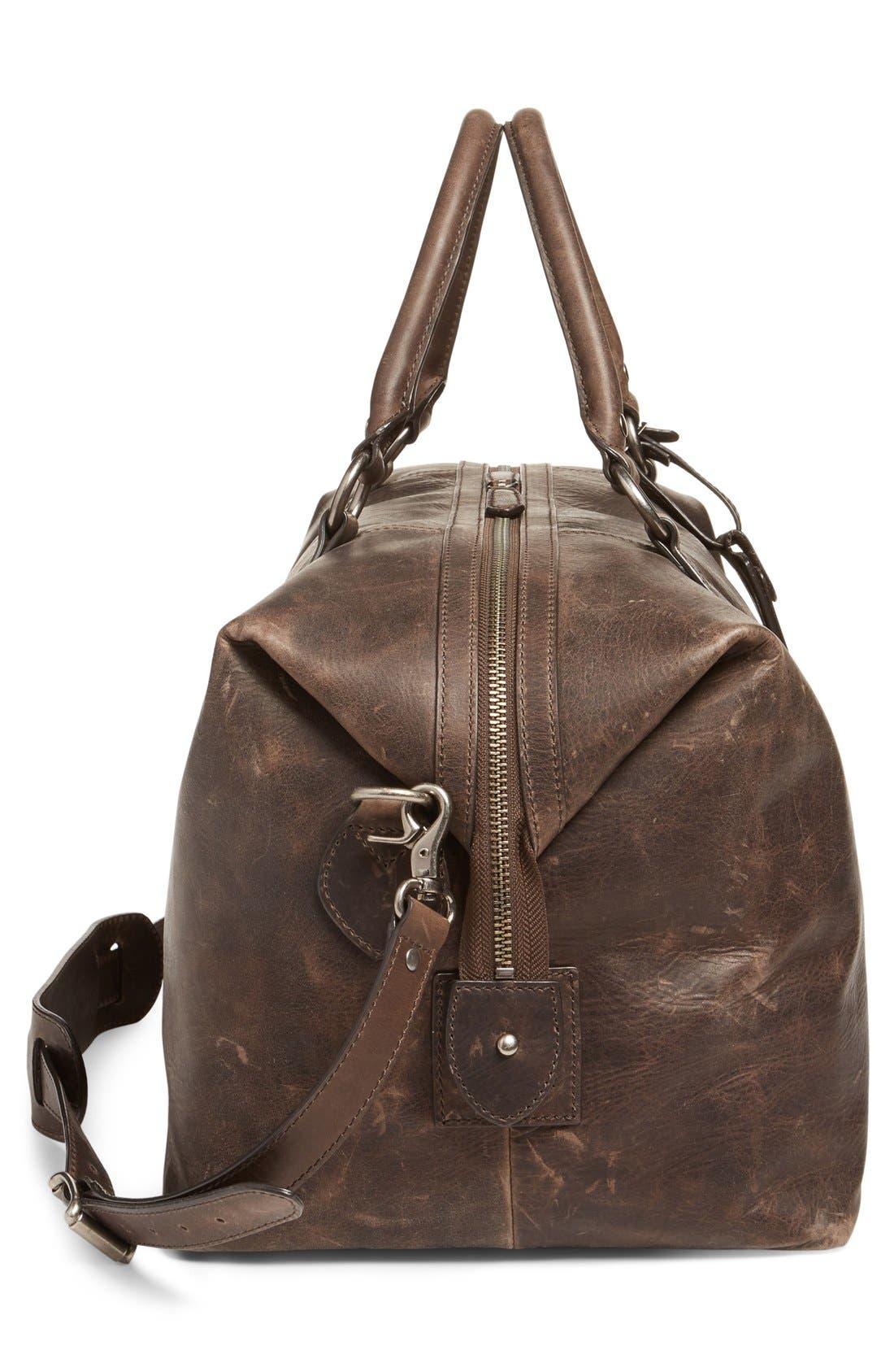 'Logan' Leather Overnight Bag,                             Alternate thumbnail 10, color,