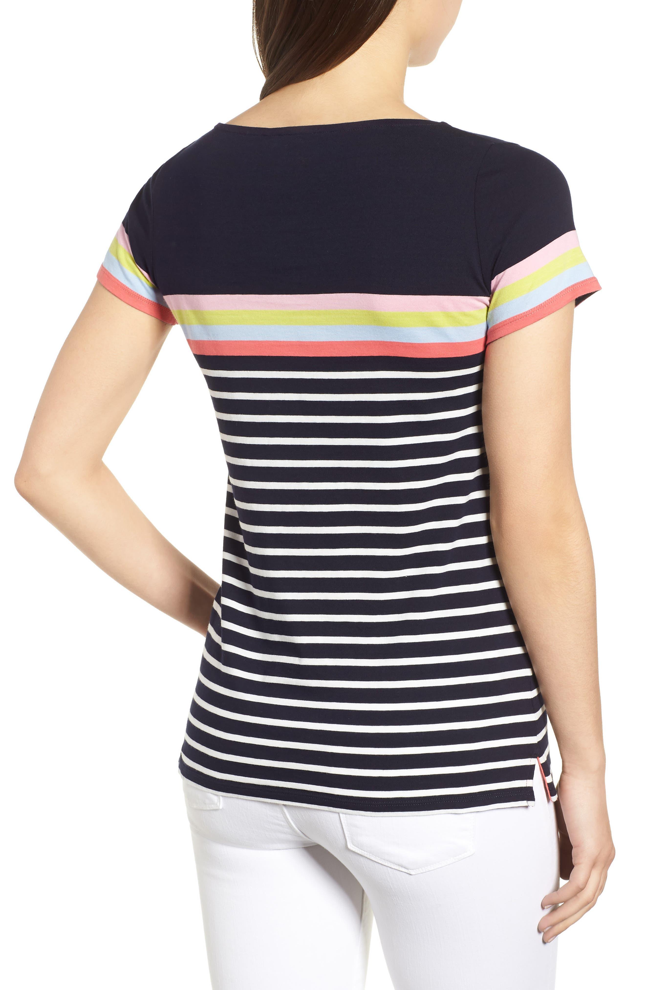 Breton Short Sleeve Stripe Cotton Top,                             Alternate thumbnail 7, color,