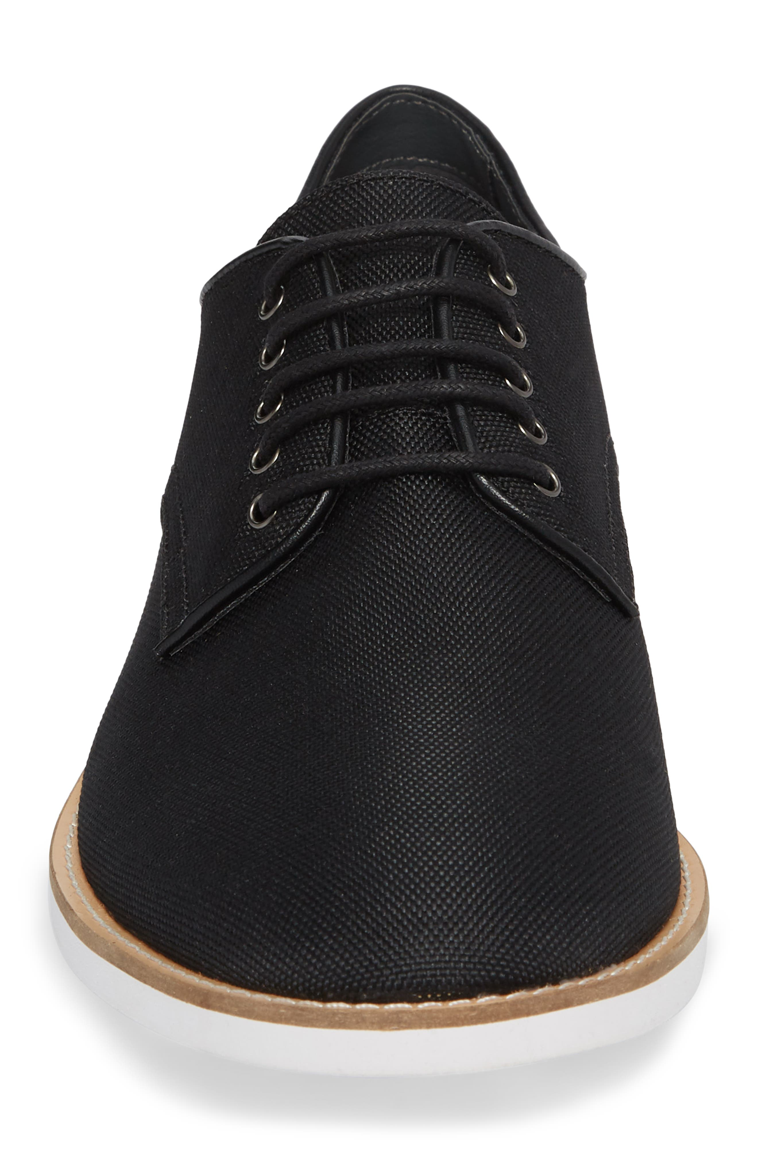 Atlee Plain Toe Derby,                             Alternate thumbnail 4, color,                             BLACK SYNTHETIC