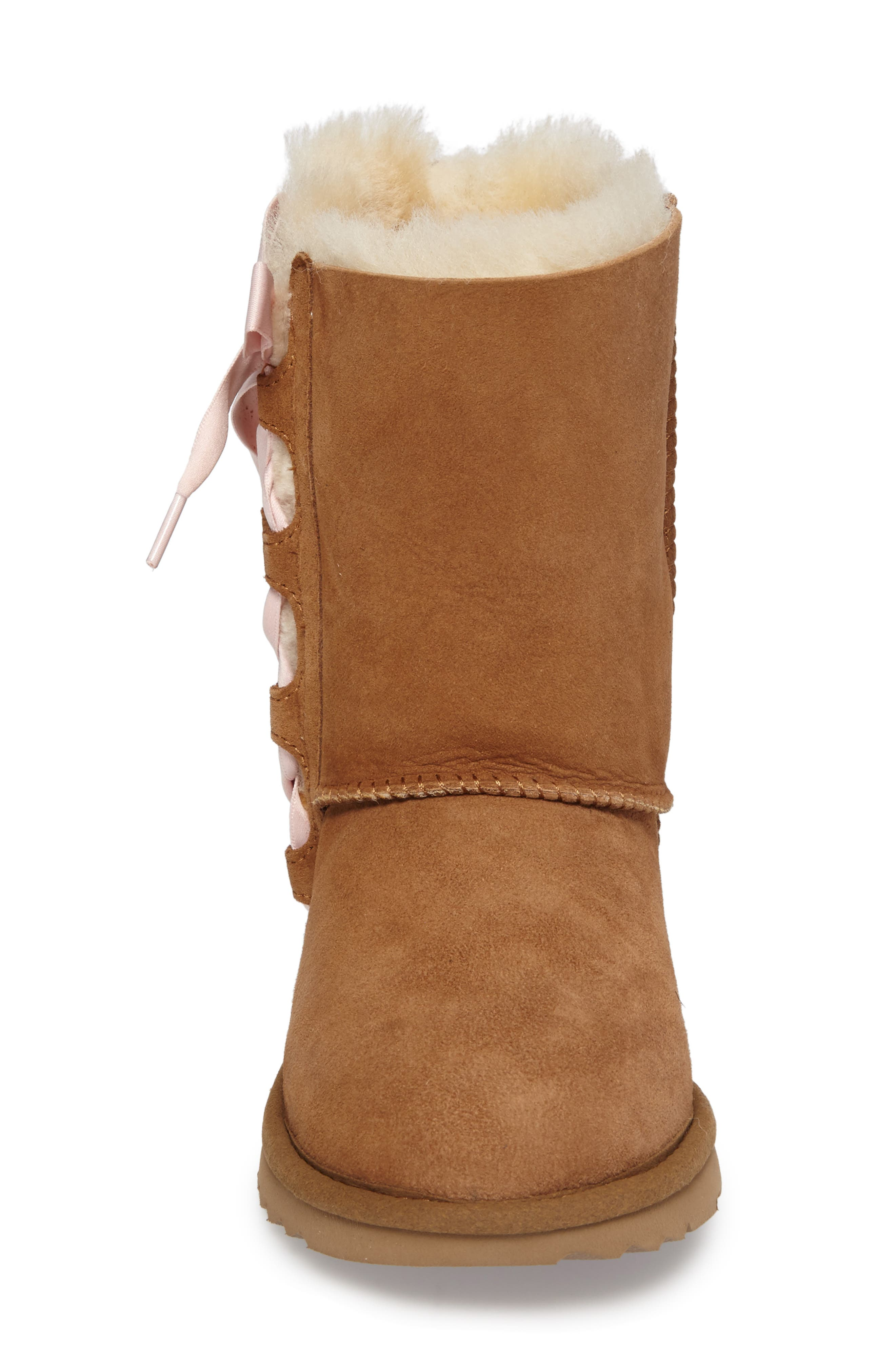 Pala Water-Resistant Genuine Shearling Boot,                             Alternate thumbnail 4, color,                             CHESTNUT