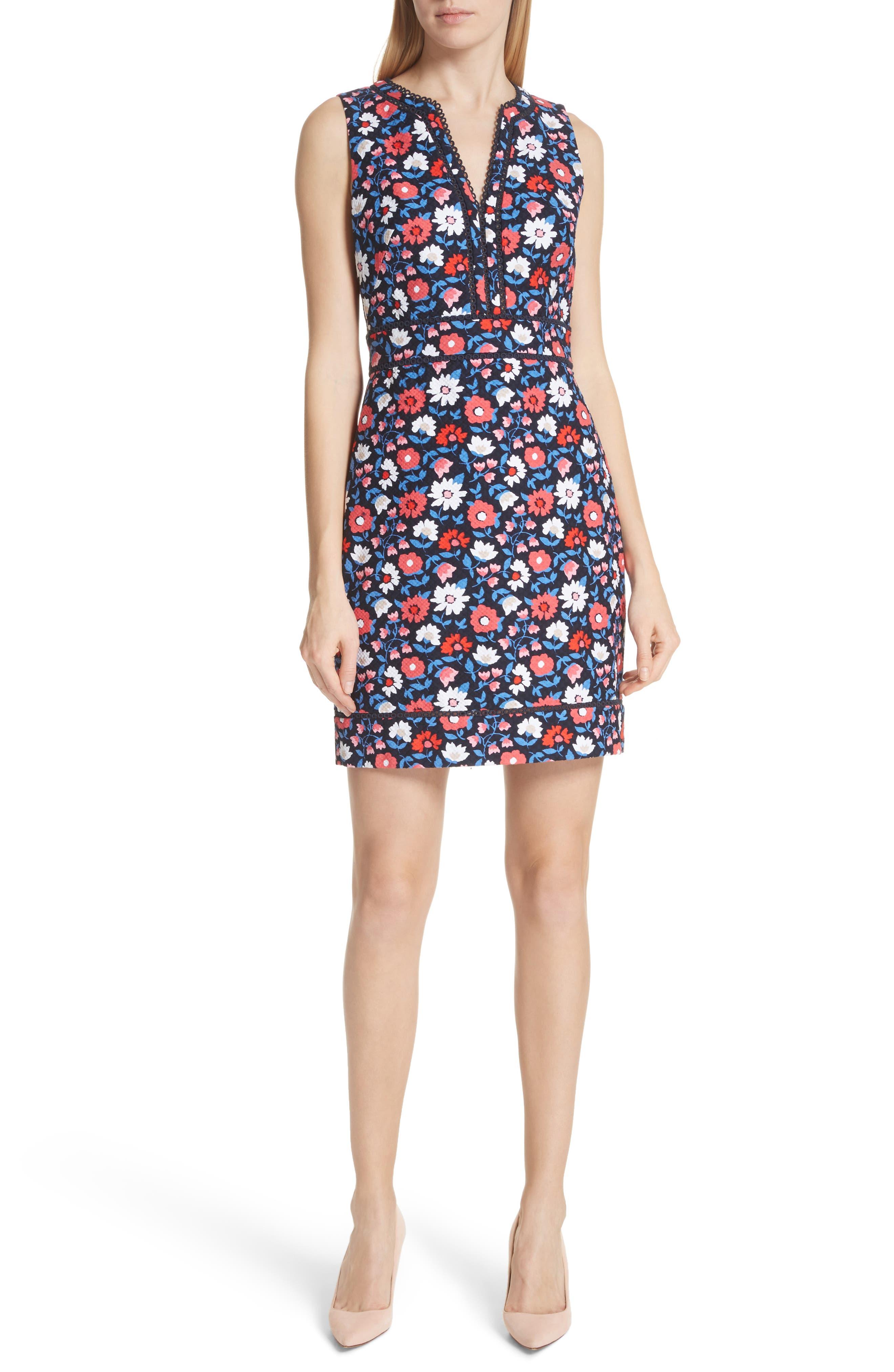 kate spade daisy jacquard sheath dress,                             Main thumbnail 1, color,