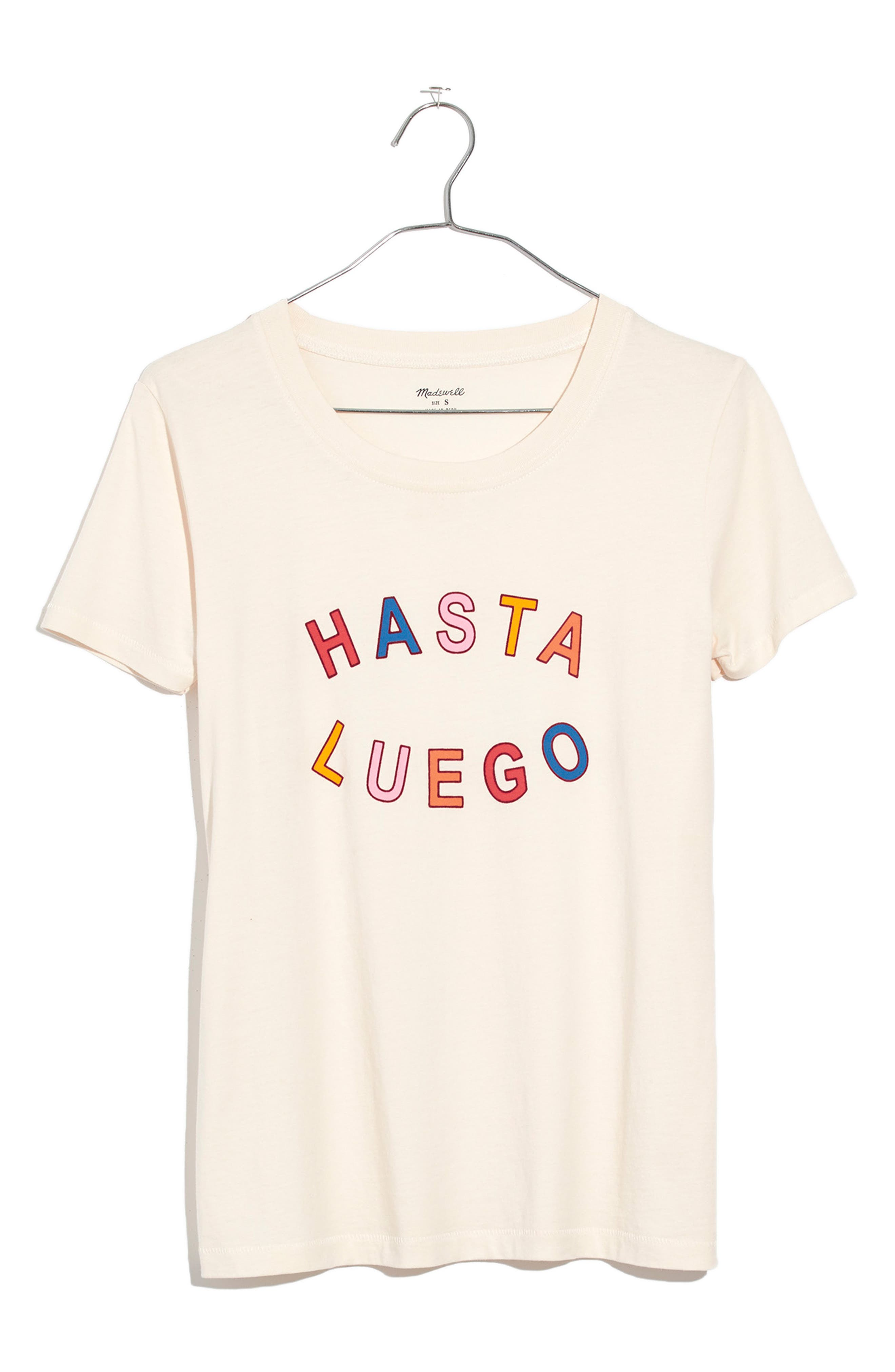 Hasta Luego Graphic Tee,                             Alternate thumbnail 3, color,                             VINTAGE LACE