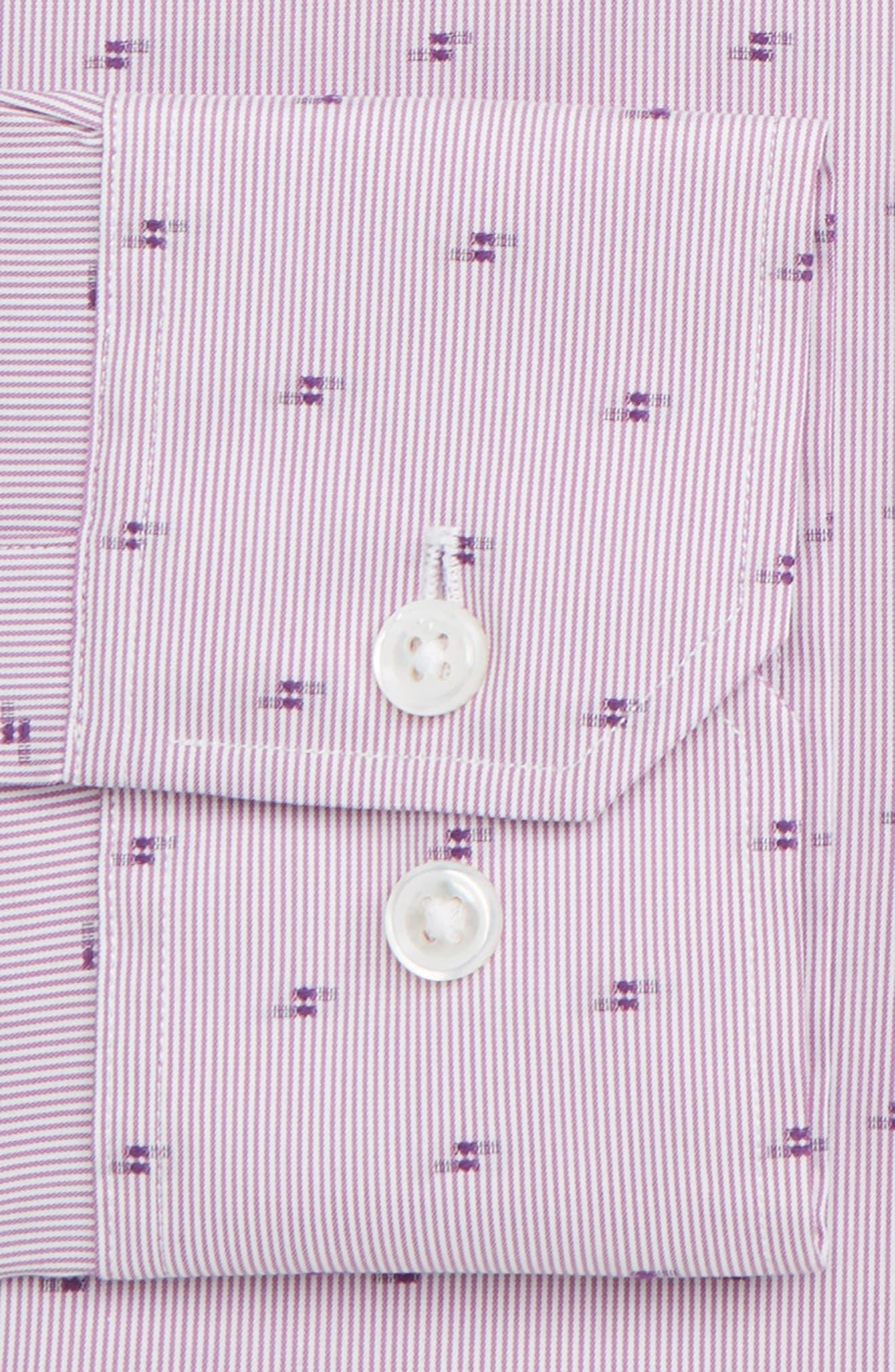 Elgine Filcoupe Slim Fit Stretch Stripe Dress Shirt,                             Alternate thumbnail 2, color,                             PINK