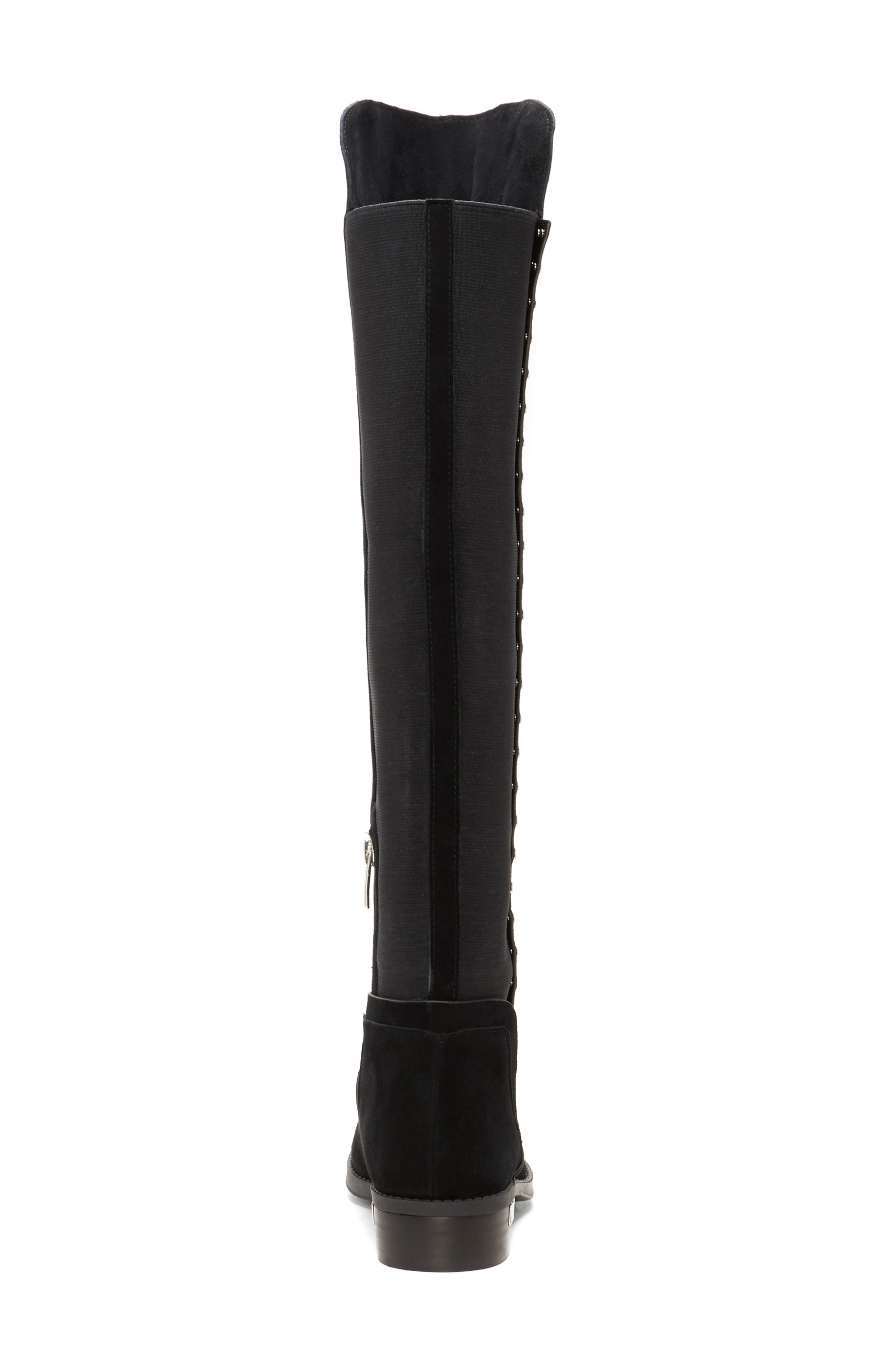 Pardonal Over-the-Knee Boot,                             Alternate thumbnail 7, color,                             BLACK SUEDE