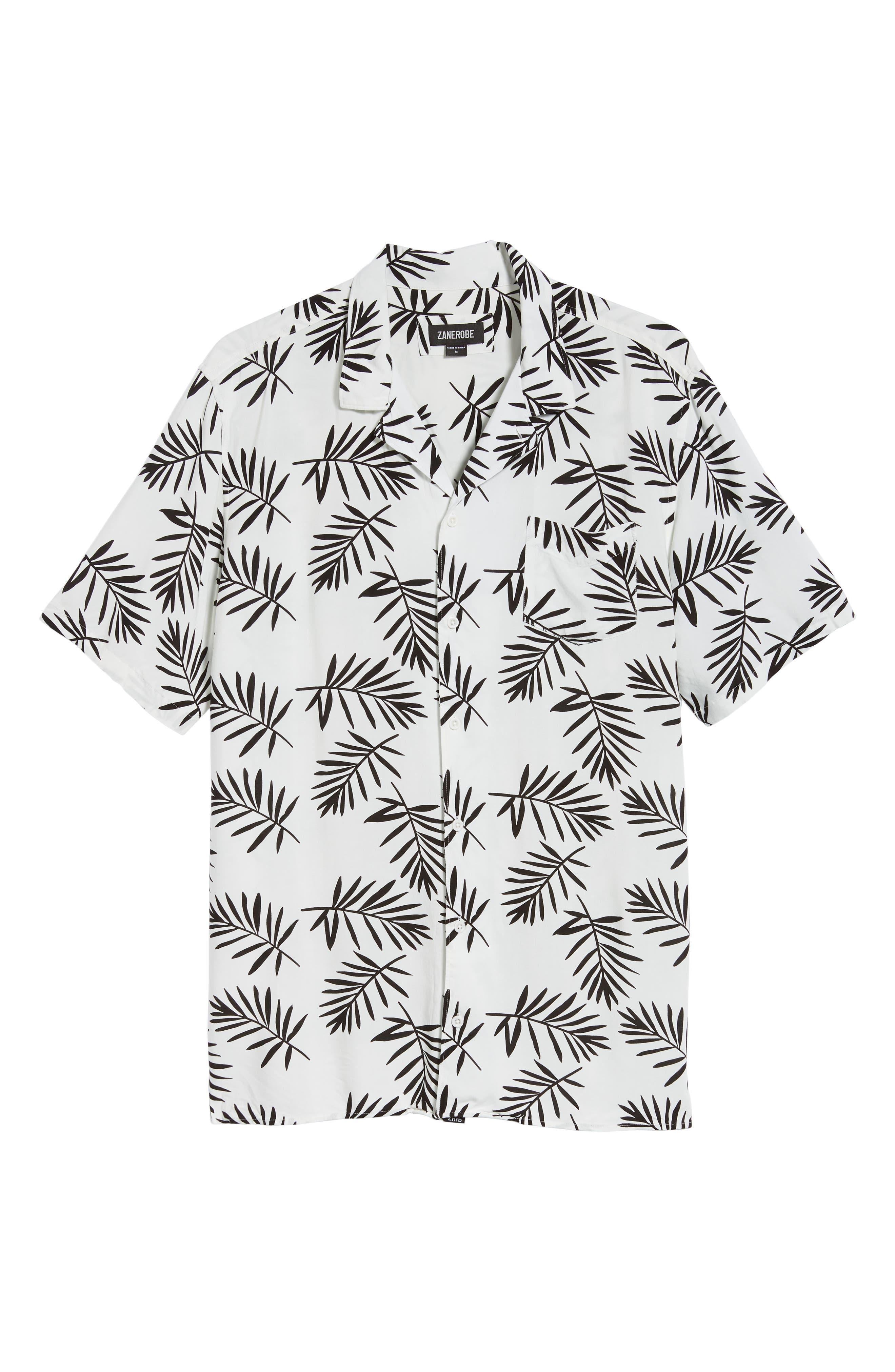 Paradise Short Sleeve Shirt,                             Alternate thumbnail 5, color,                             NAVY