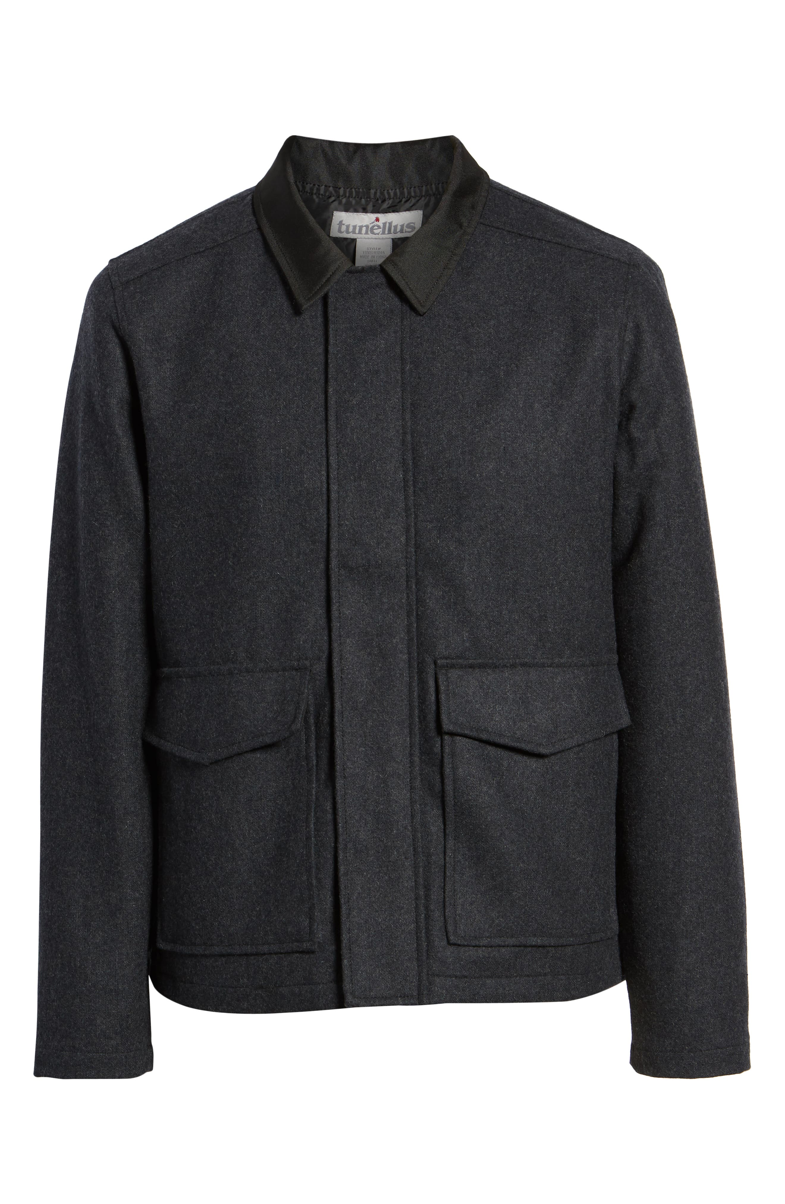 Zip Front Jacket,                             Alternate thumbnail 6, color,                             GREY