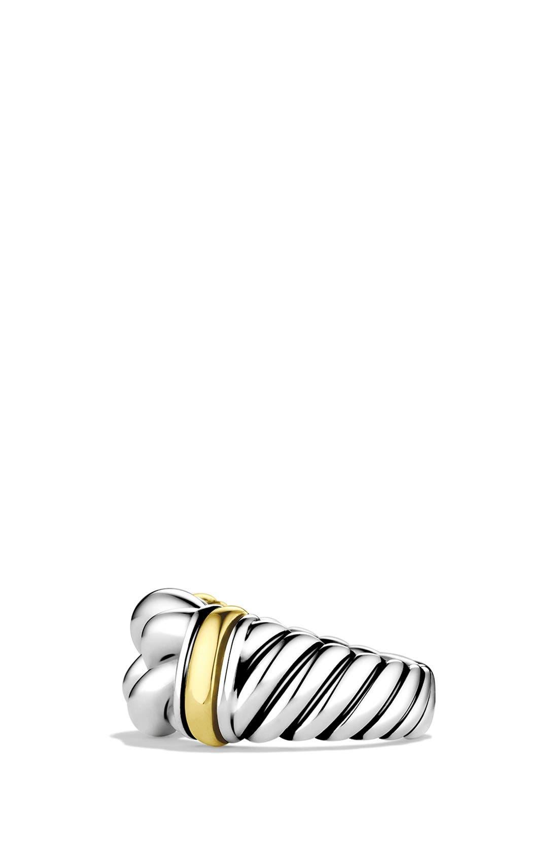 DAVID YURMAN,                             'Metro' Ring with Gold,                             Alternate thumbnail 3, color,                             040