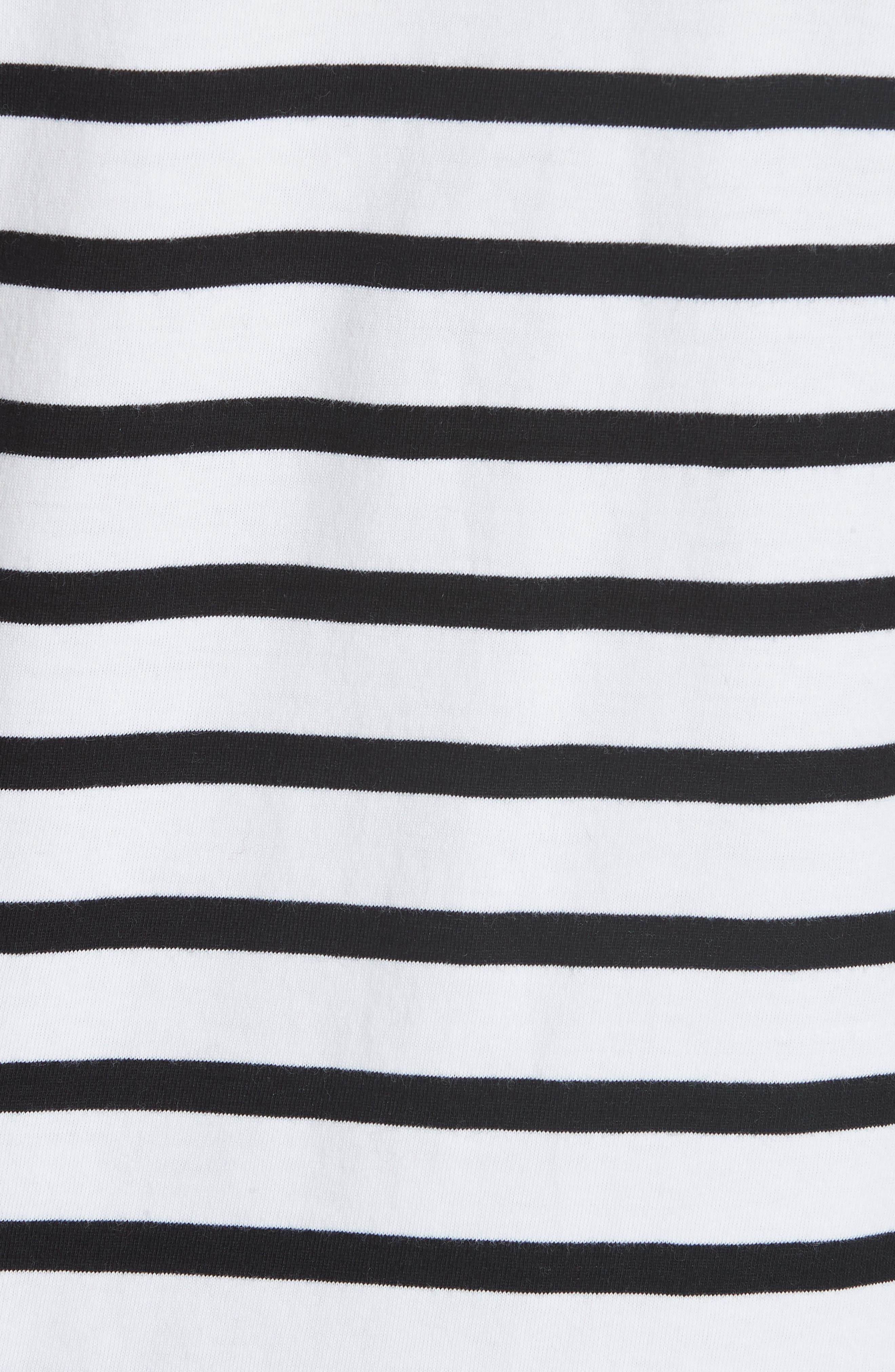 Lean Lines Tee,                             Alternate thumbnail 5, color,                             WHITE AND BLACK STRIPE
