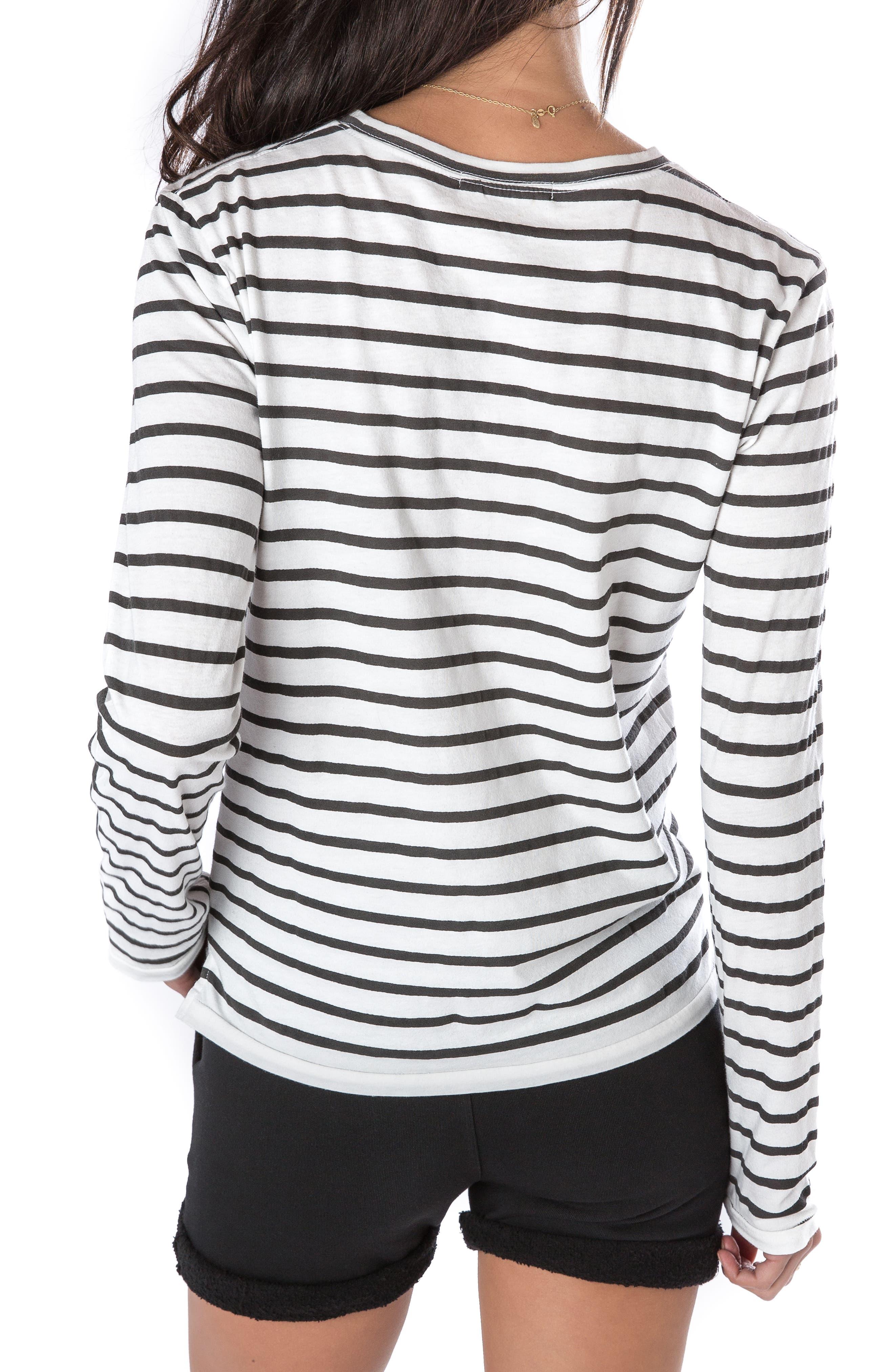Stripe Long Sleeve Tee,                             Alternate thumbnail 2, color,                             100