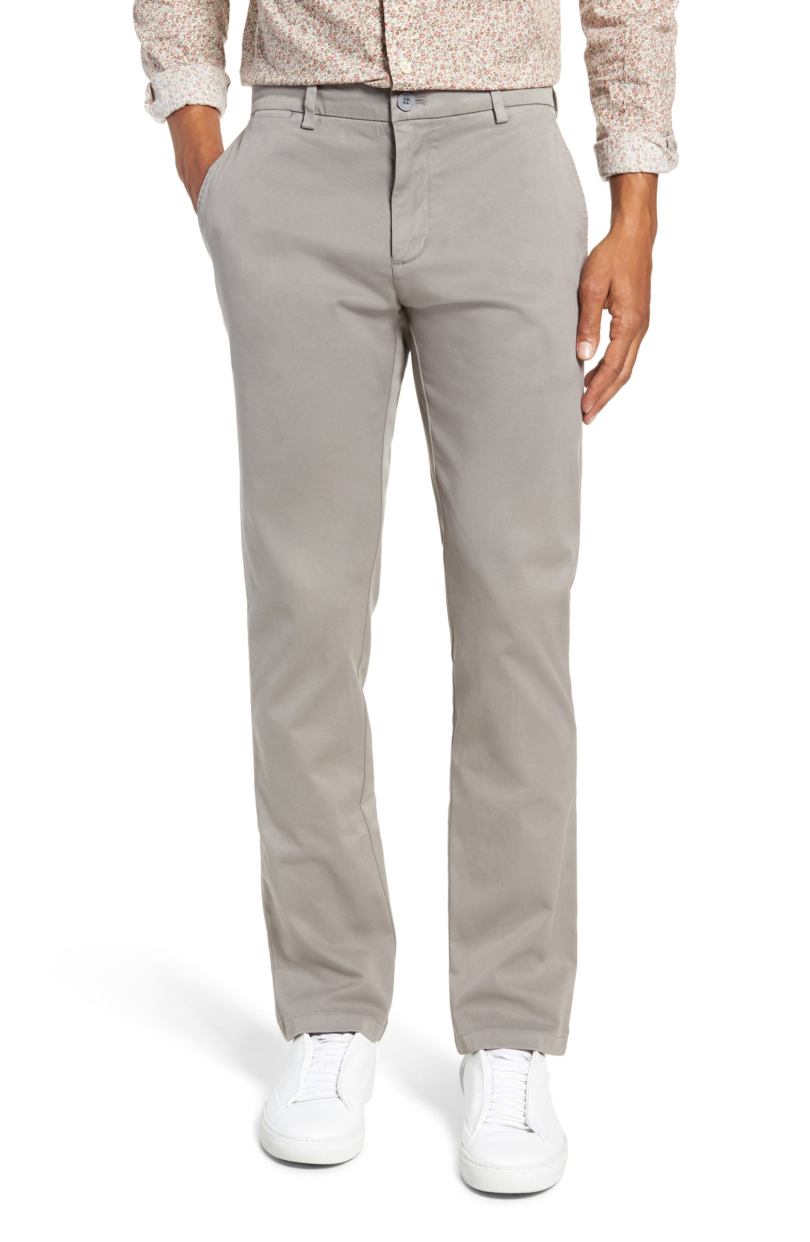 Stretch Slim Fit Pants,                         Main,                         color, ANCHOR GREY