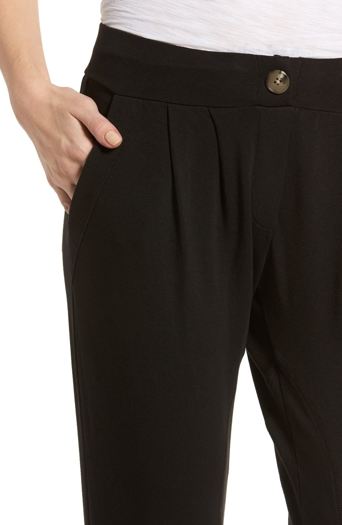 Jamie Stretch Jersey Jogger Pants,                             Alternate thumbnail 2, color,                             001