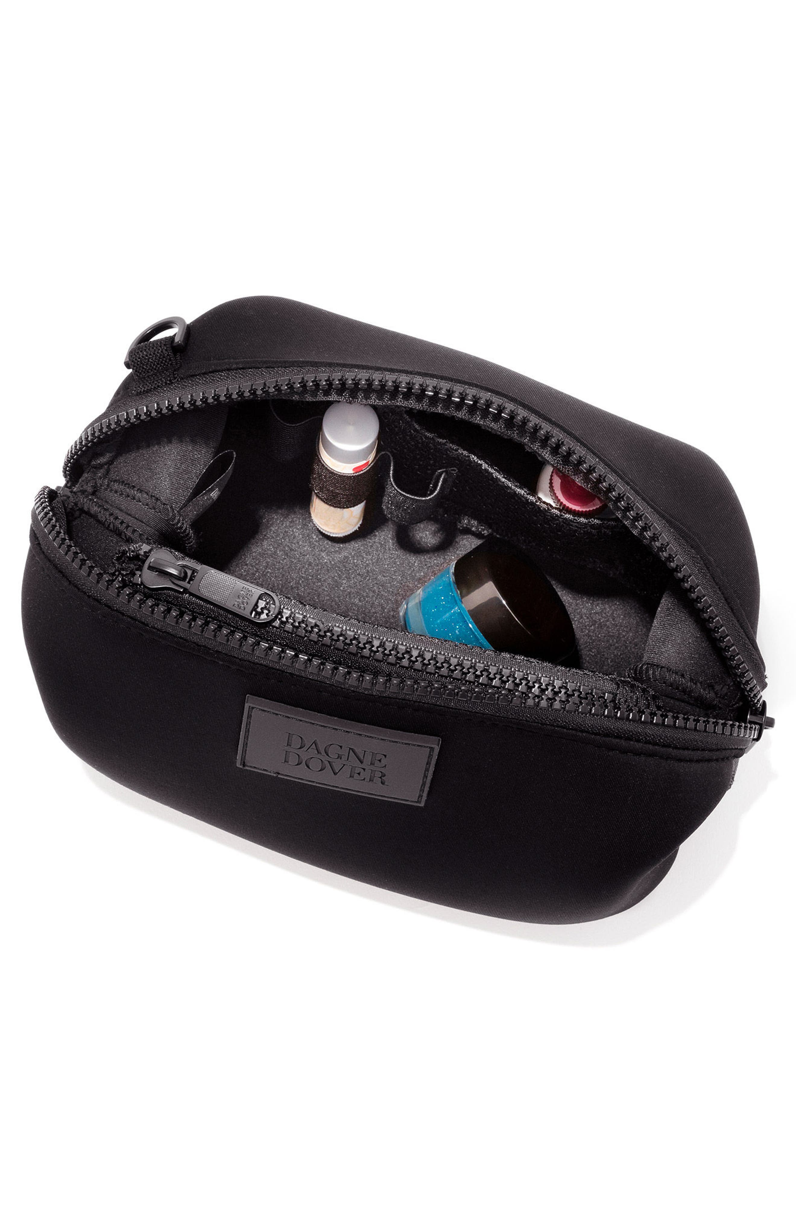 Small Hunter Neoprene Toiletry Bag,                             Alternate thumbnail 3, color,                             001