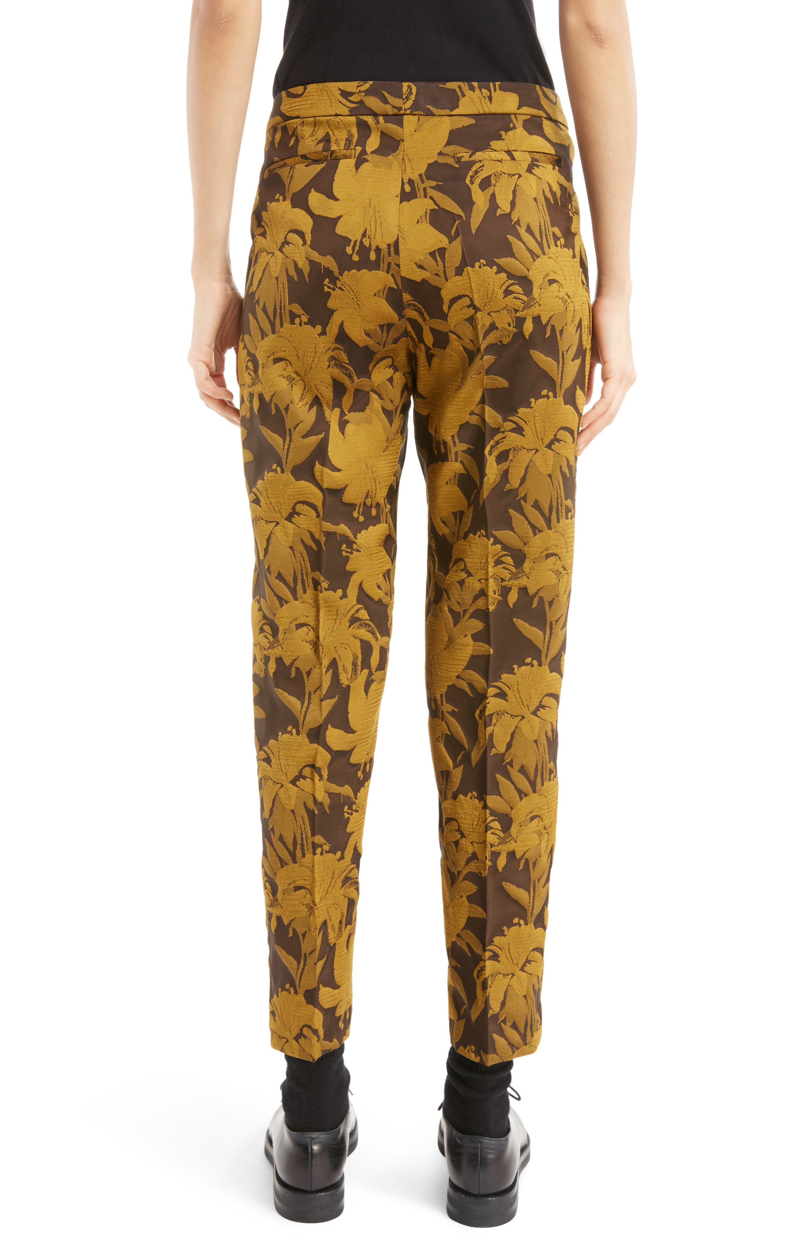 Damask Ankle Trousers,                             Alternate thumbnail 2, color,                             700