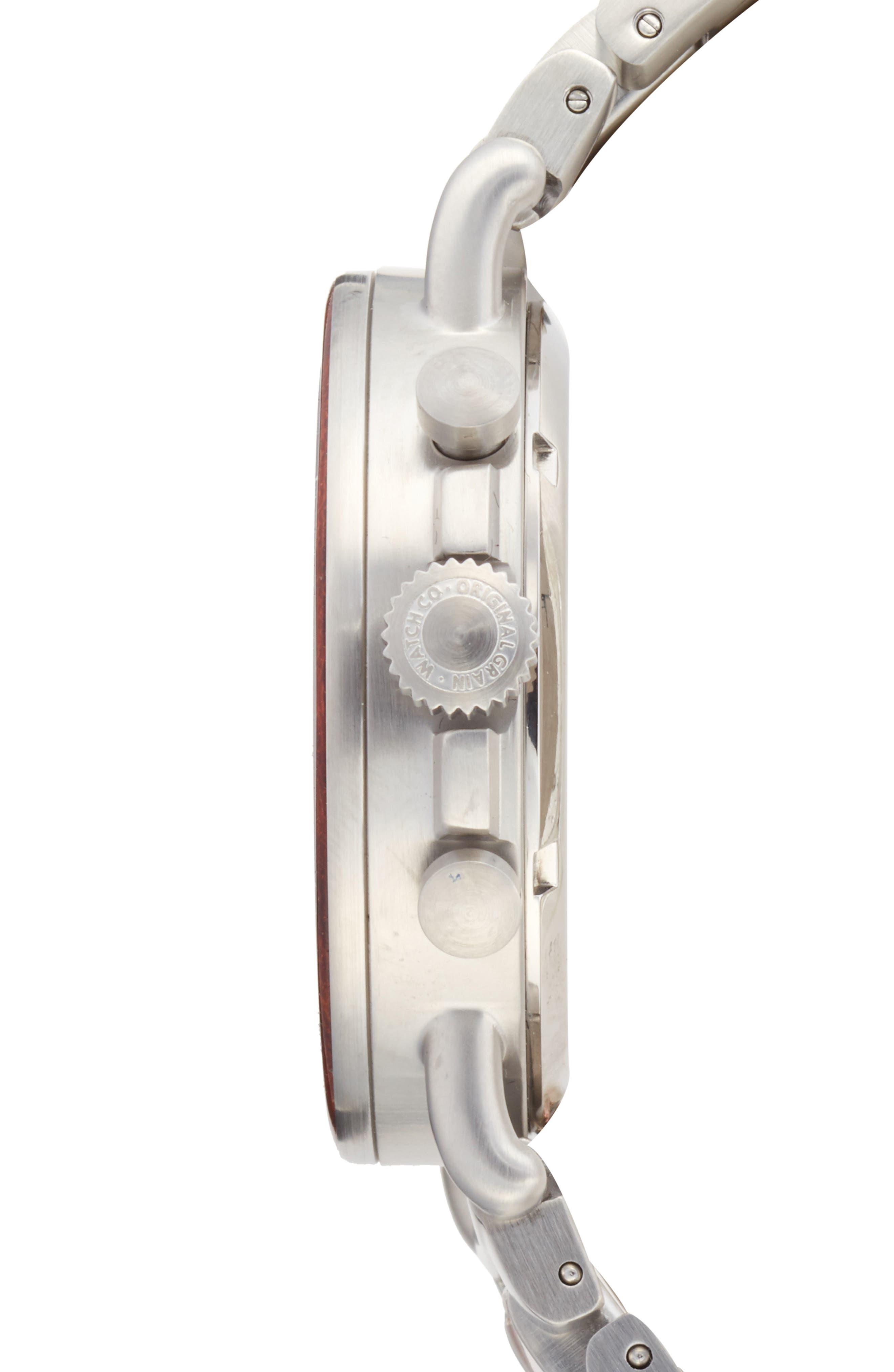 Alterra Chronograph Bracelet Watch,                             Alternate thumbnail 3, color,                             049