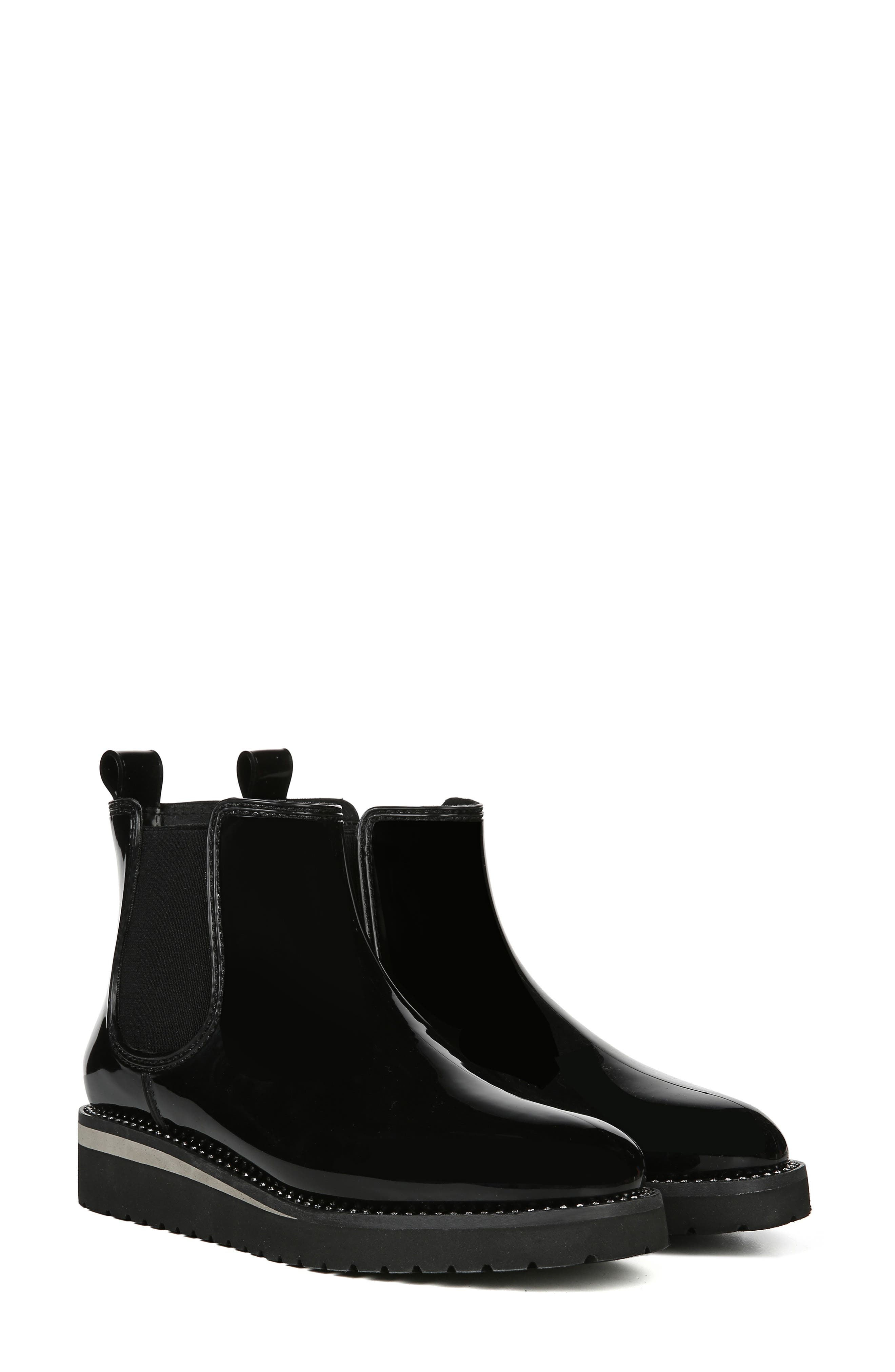 Luna Waterproof Chelsea Boot,                             Alternate thumbnail 9, color,                             BLACK