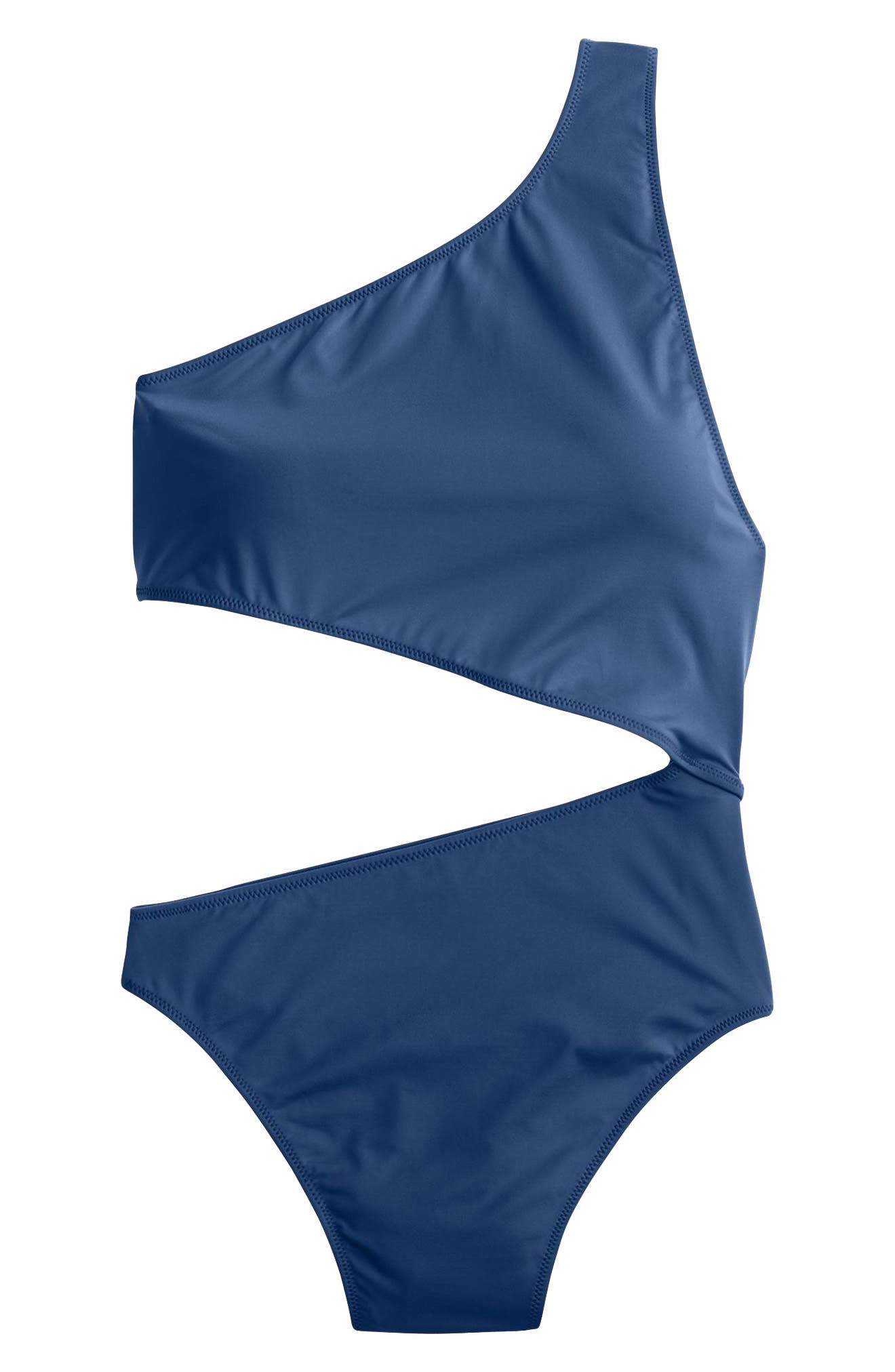 Playa Tilden One-Shoulder One-Piece Swimsuit,                             Alternate thumbnail 6, color,                             400