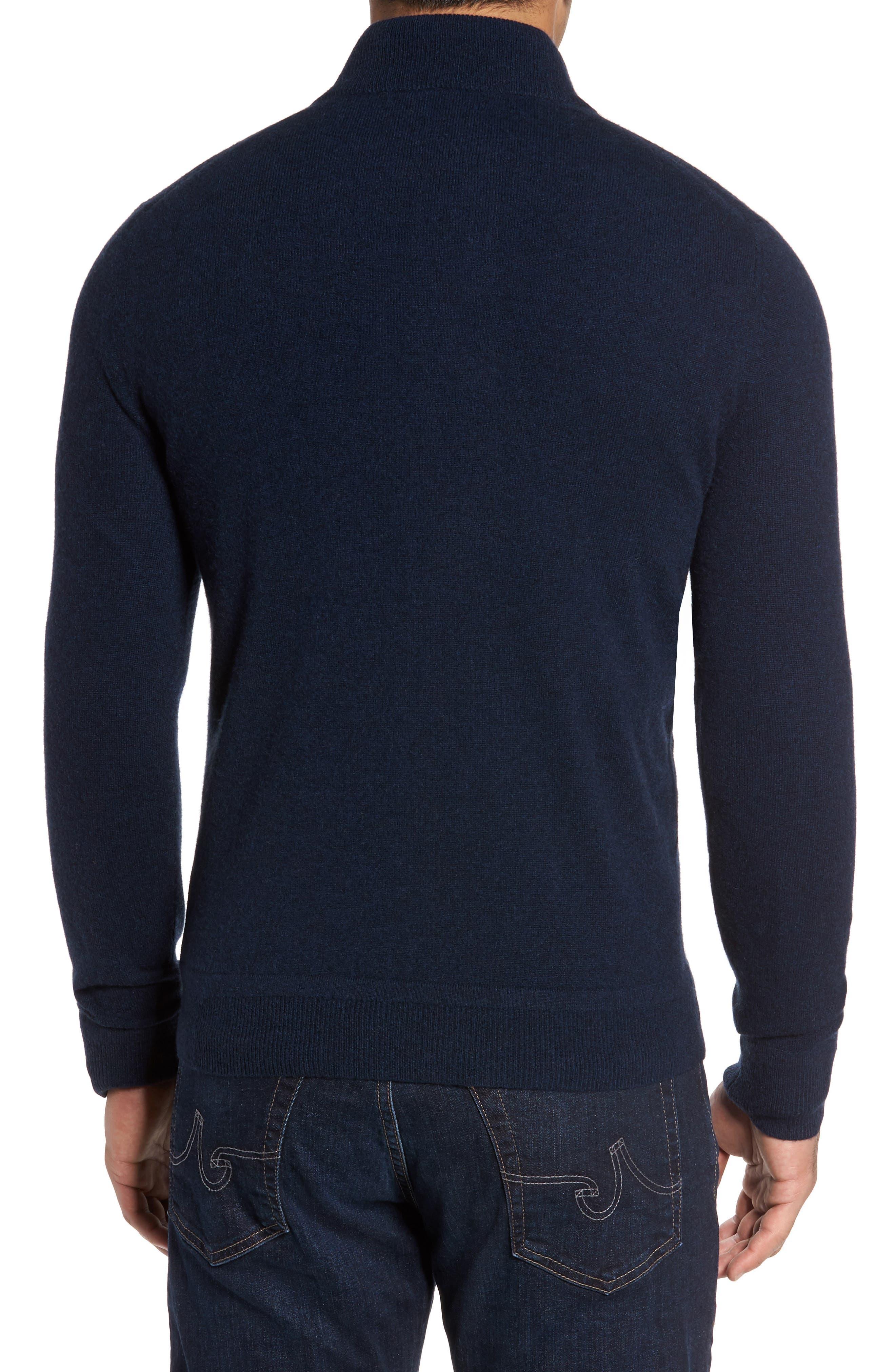 Cashmere Quarter Zip Sweater,                             Alternate thumbnail 10, color,