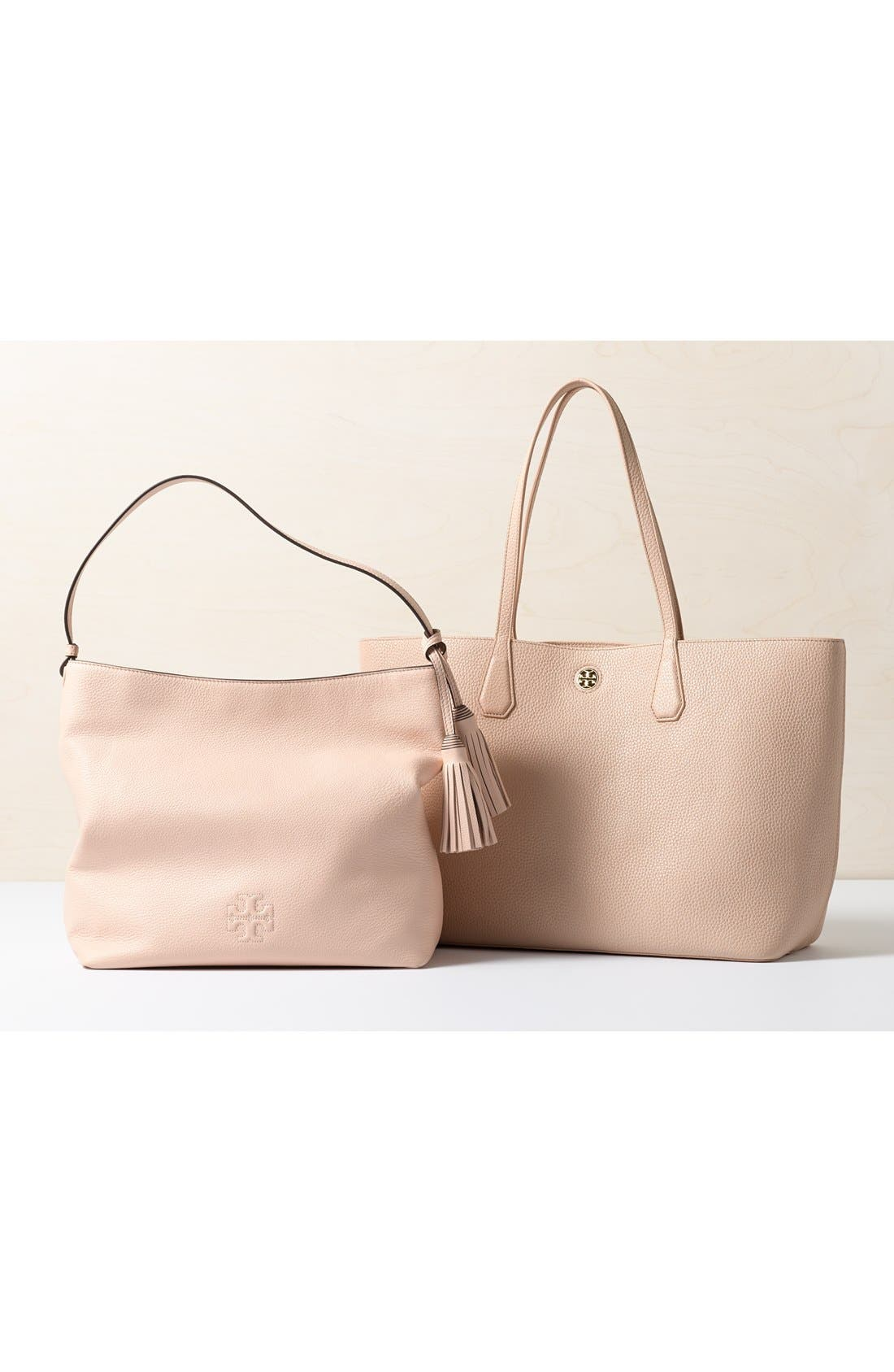 'Perry' Leather Tote,                             Alternate thumbnail 2, color,                             001
