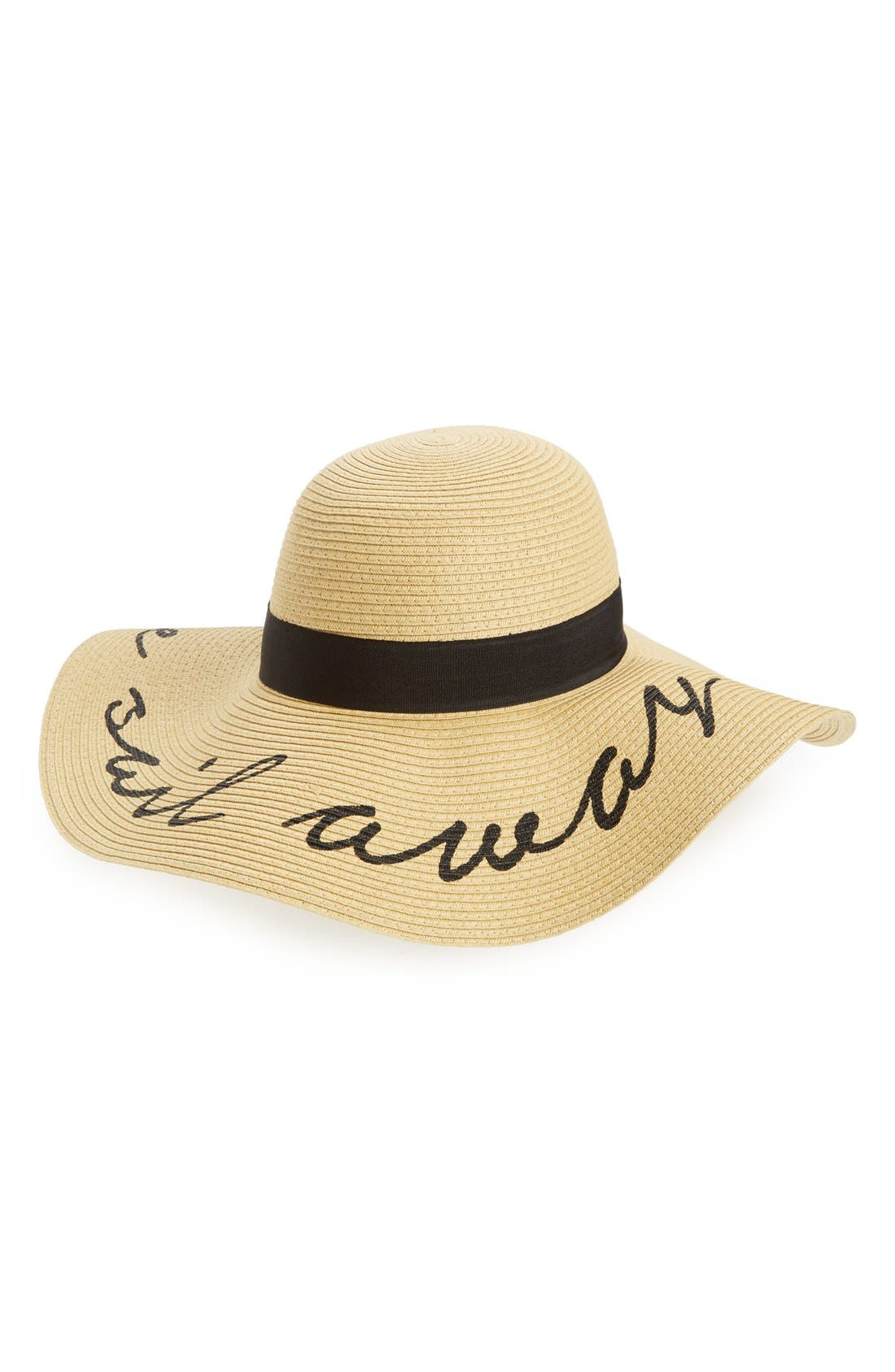 'Come Sail Away' Floppy Straw Hat,                         Main,                         color, 285