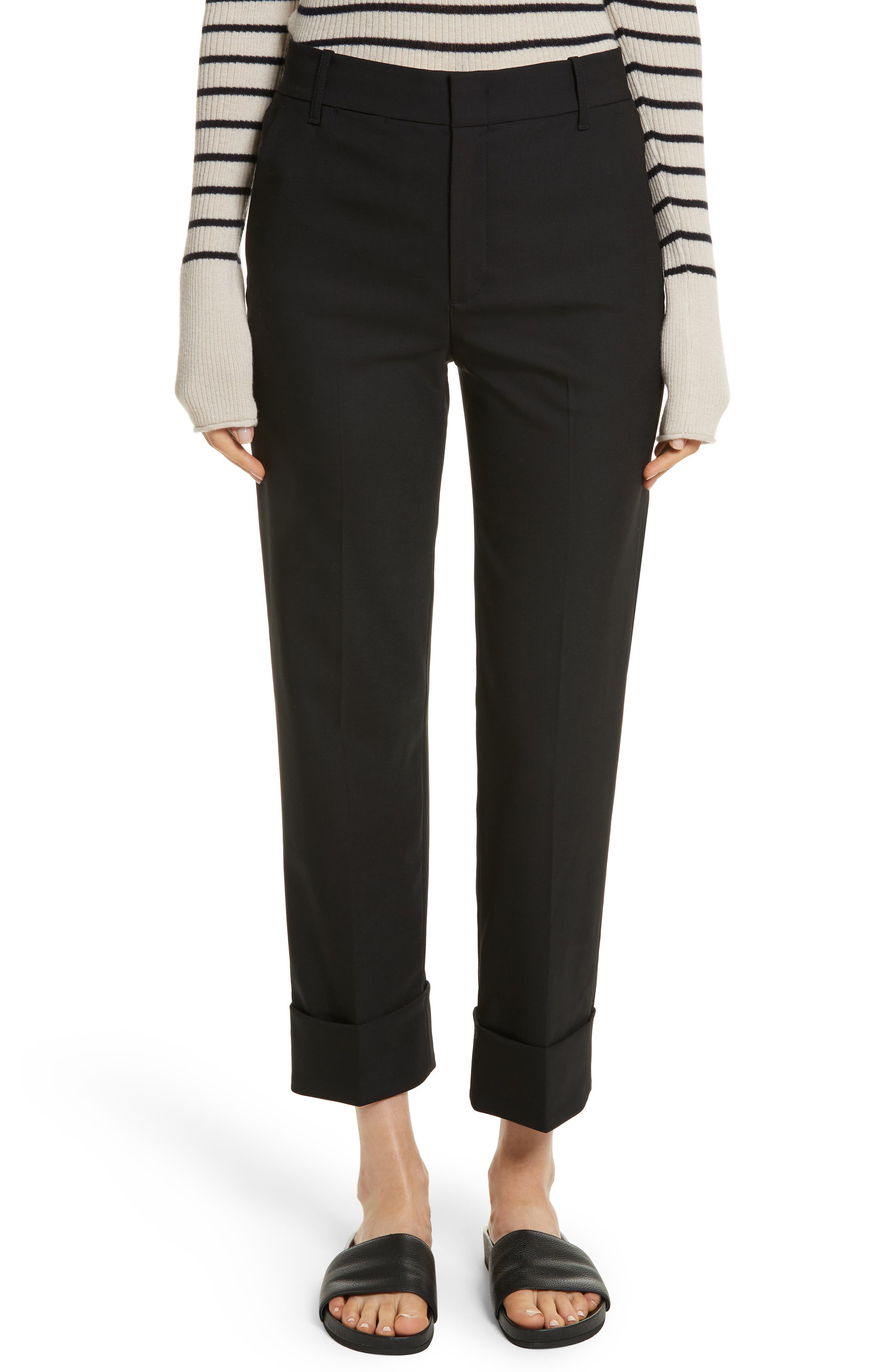 Cuffed Coin Pocket Trousers,                             Main thumbnail 1, color,                             001