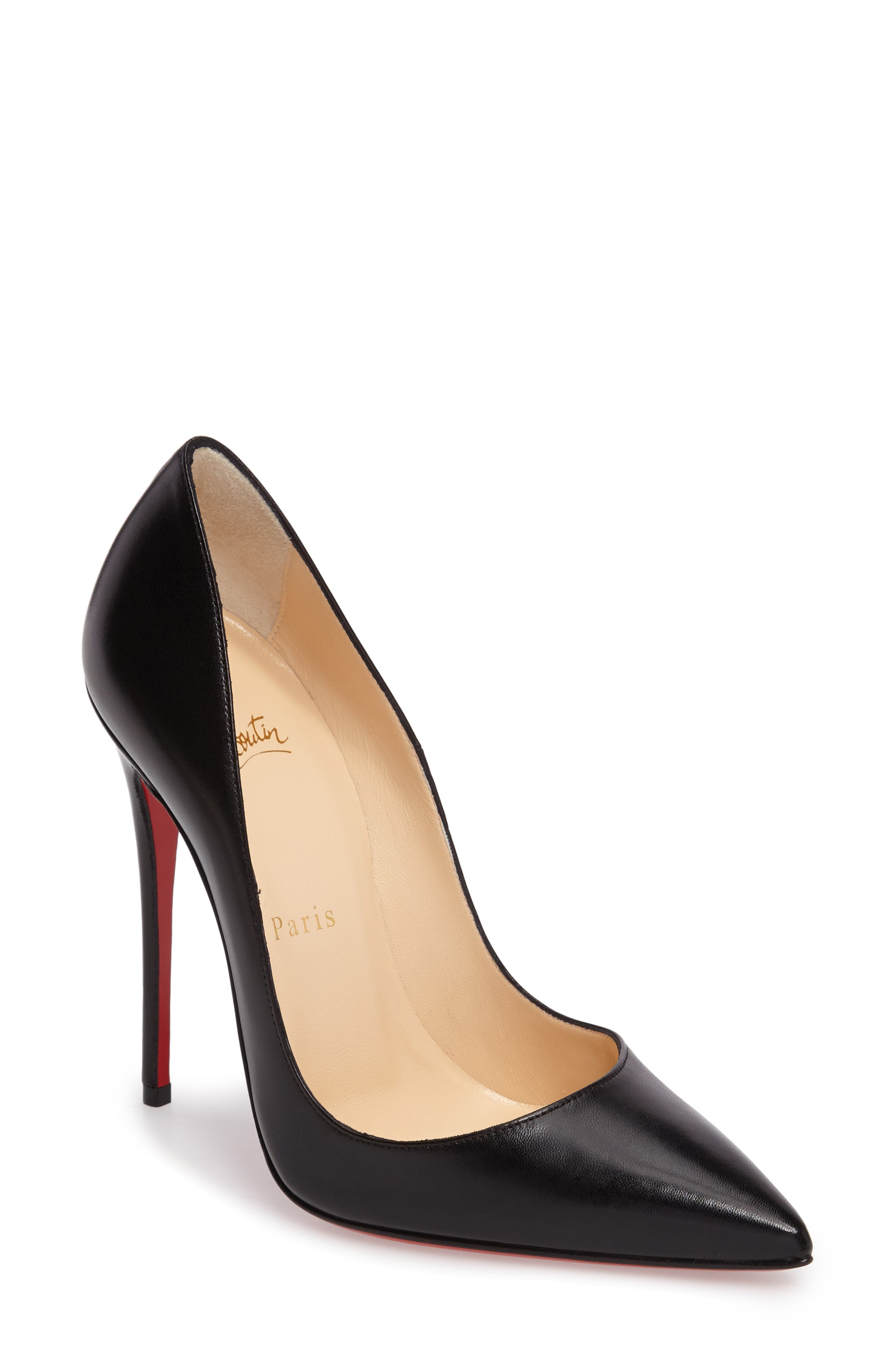 'So Kate' Pointy Toe Leather Pump,                             Main thumbnail 1, color,                             001