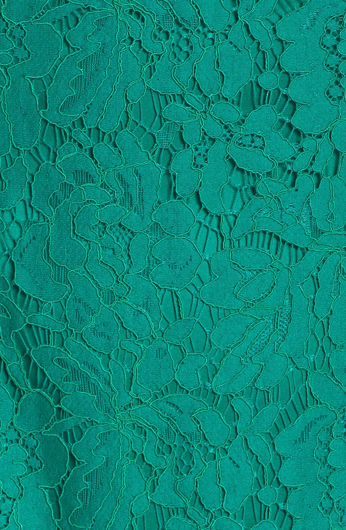 Lace Fit & Flare Dress,                             Alternate thumbnail 5, color,                             310