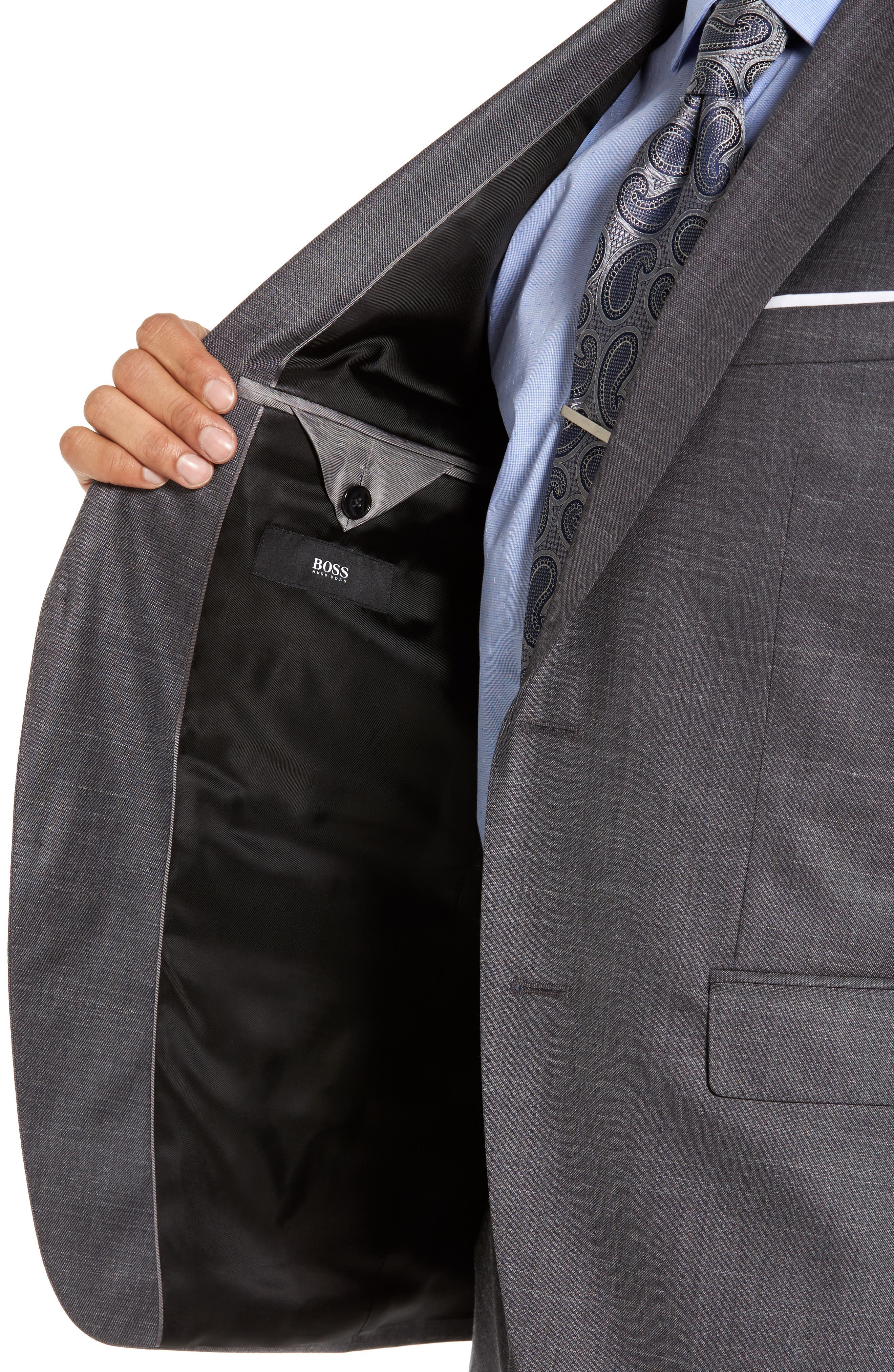 Johnstons/Lenon Classic Fit Solid Wool Blend Suit,                             Alternate thumbnail 4, color,                             061