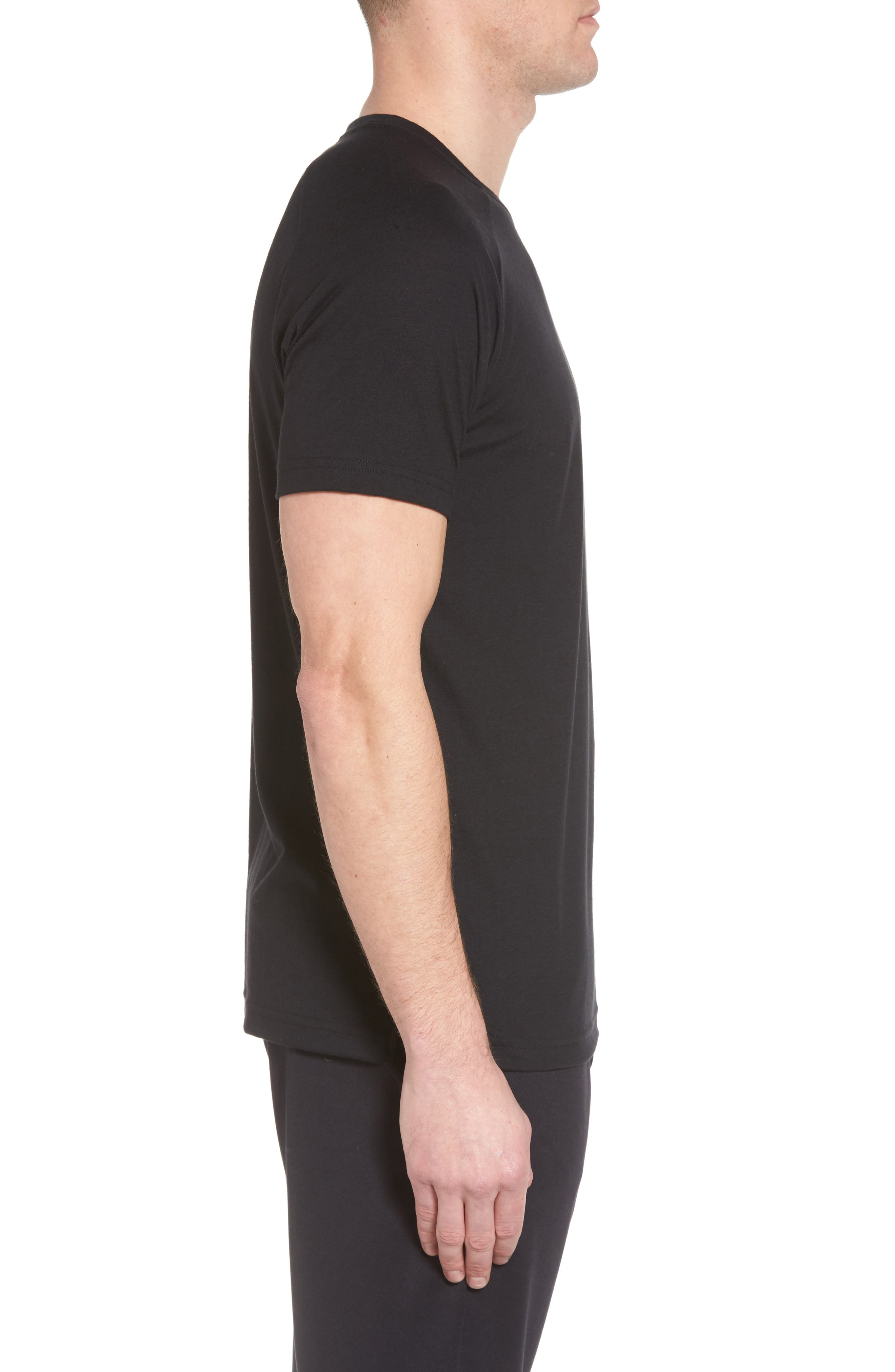 The Triumph Crewneck T-Shirt,                             Alternate thumbnail 3, color,                             SOLID BLACK TRIBLEND
