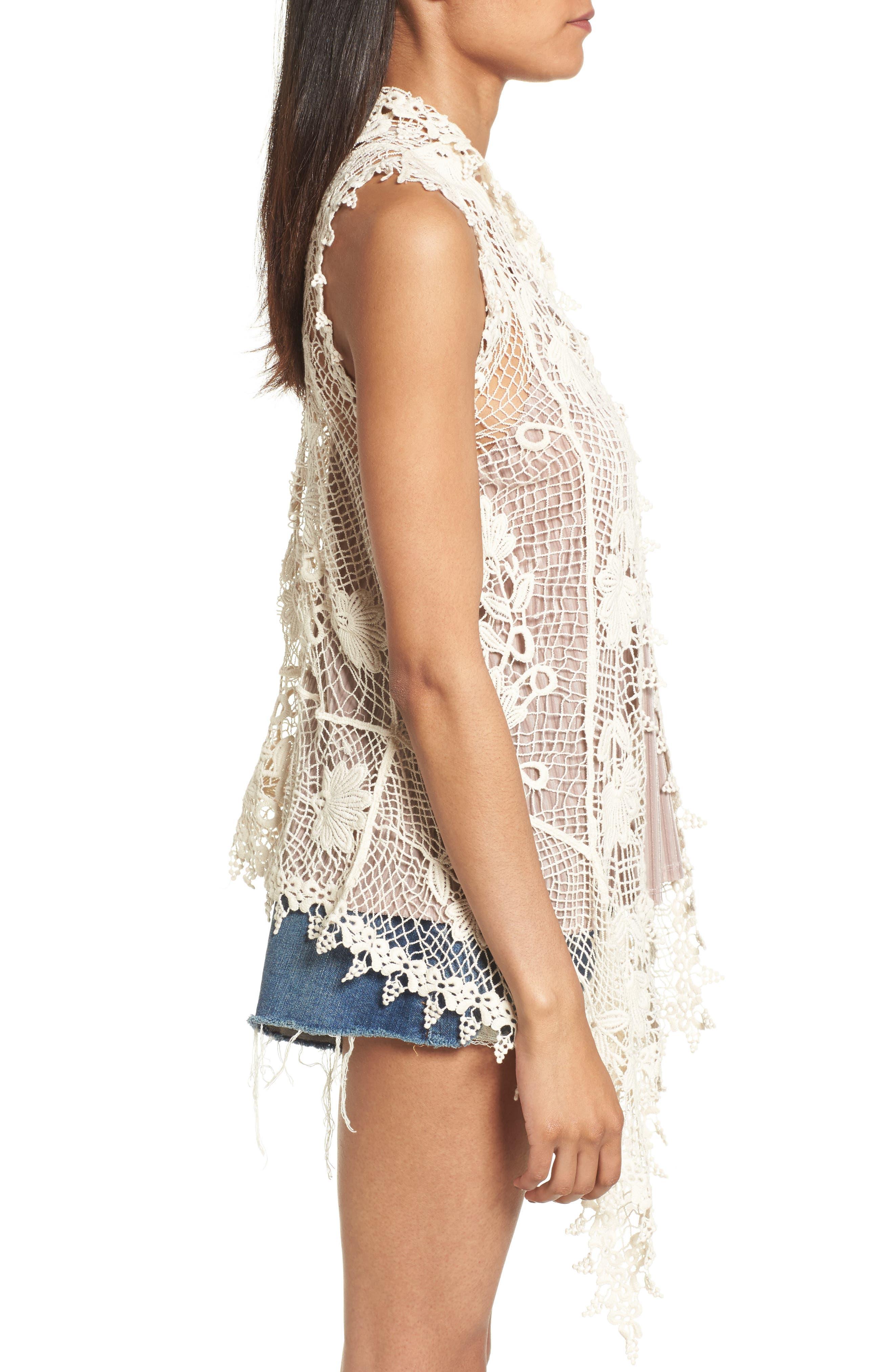 Crochet Cotton Vest,                             Alternate thumbnail 3, color,                             900