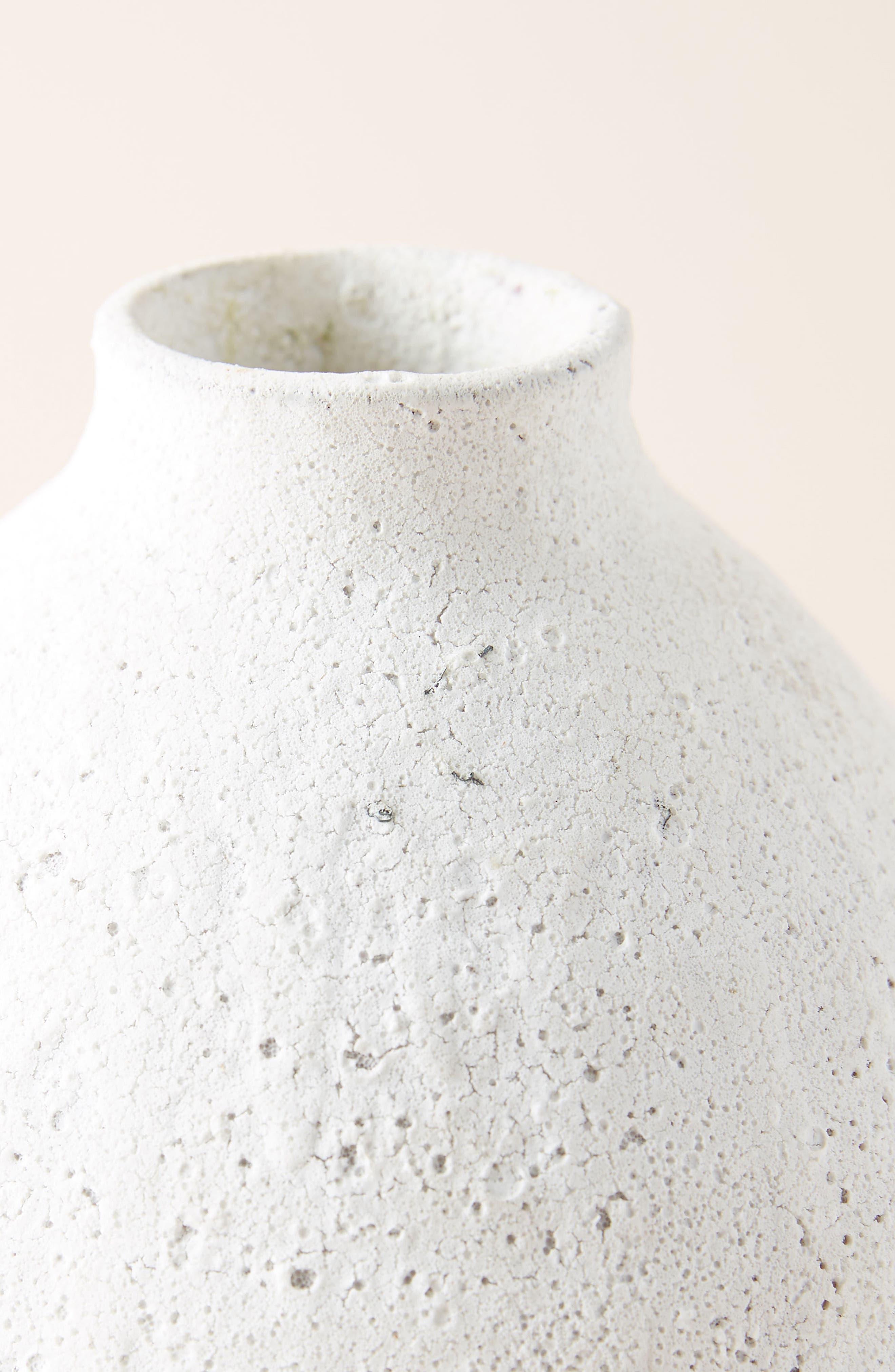 ANTHROPOLOGIE,                             Large Lark Vase,                             Alternate thumbnail 2, color,                             WHITE