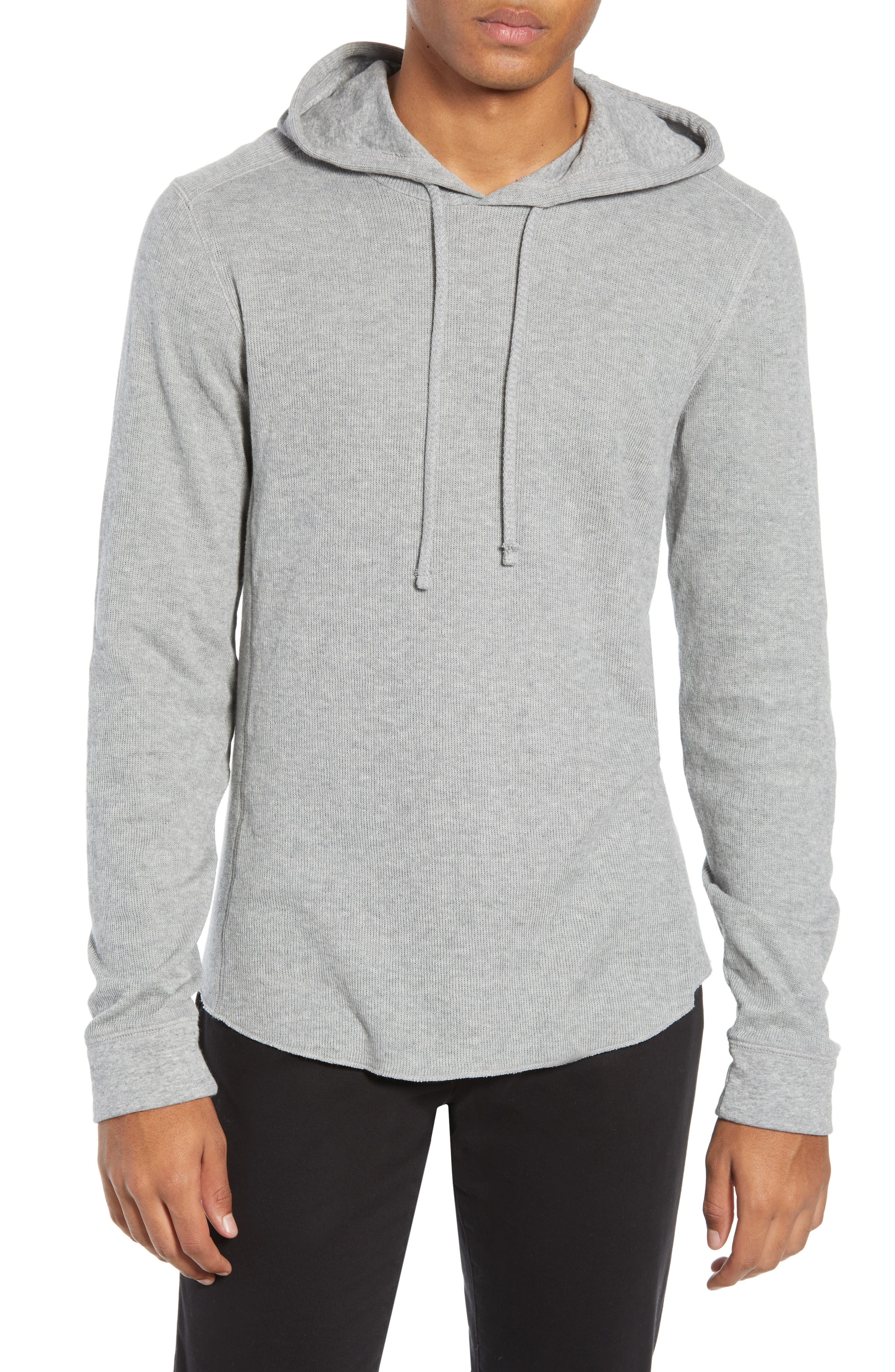 Double Knit Hoodie,                             Main thumbnail 1, color,                             H STEEL