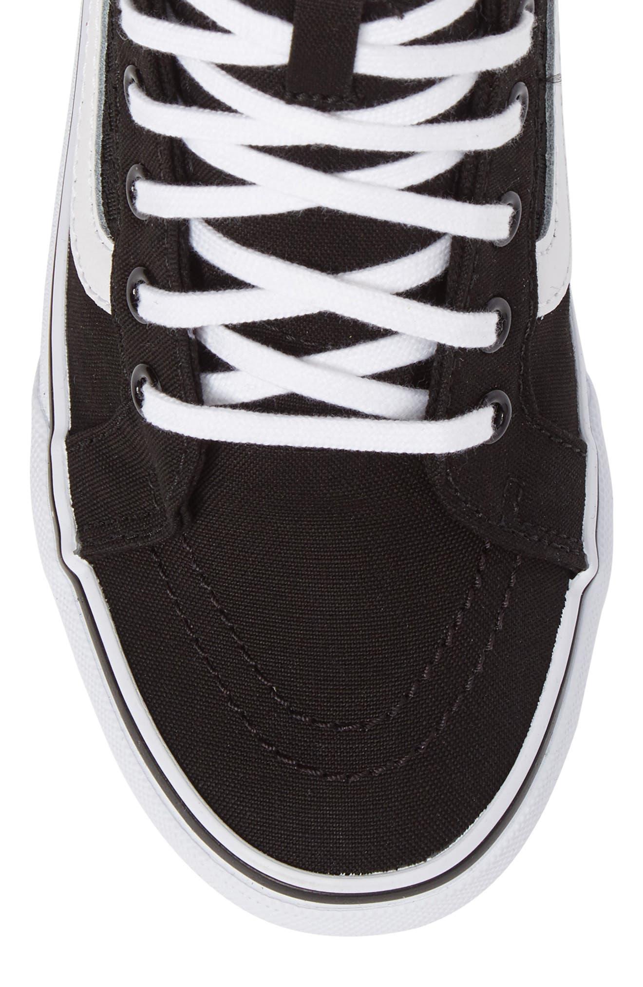 SK8-HI Slim Gore Sneaker,                             Alternate thumbnail 5, color,                             001
