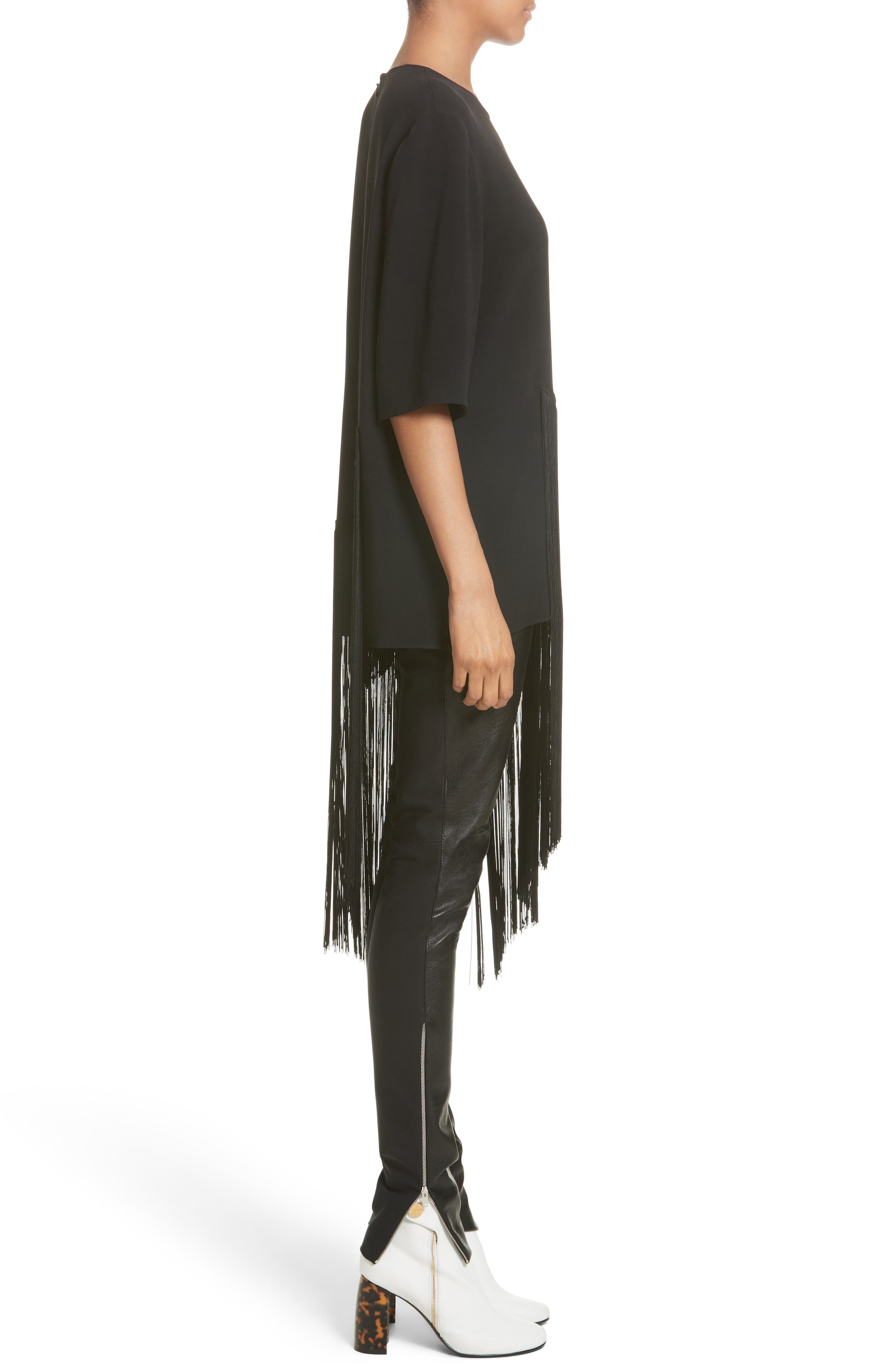 Stretch Cady Fringe Top,                             Alternate thumbnail 3, color,