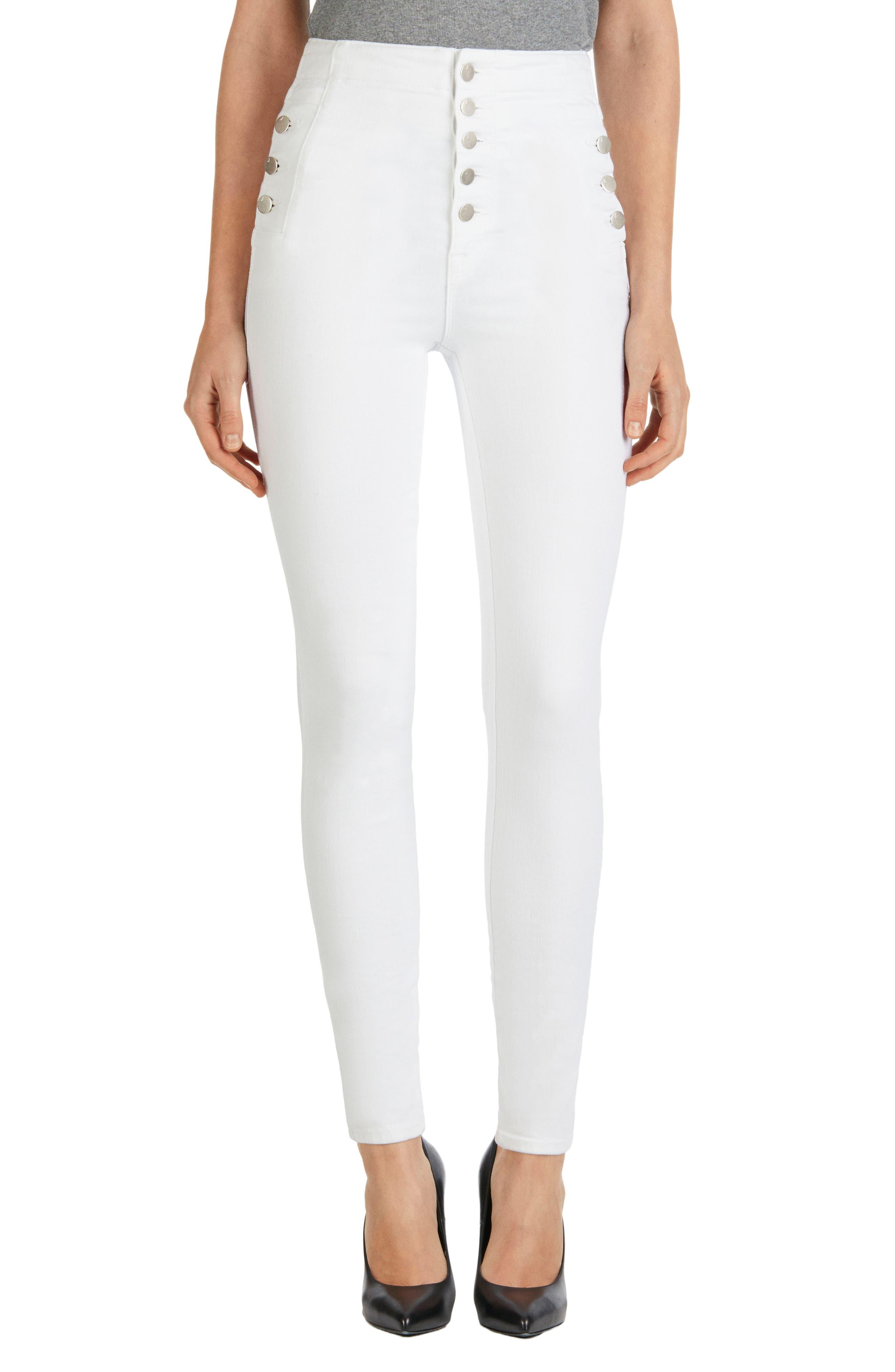 'Natasha Sky High' High Rise Skinny Jeans,                             Main thumbnail 1, color,                             100