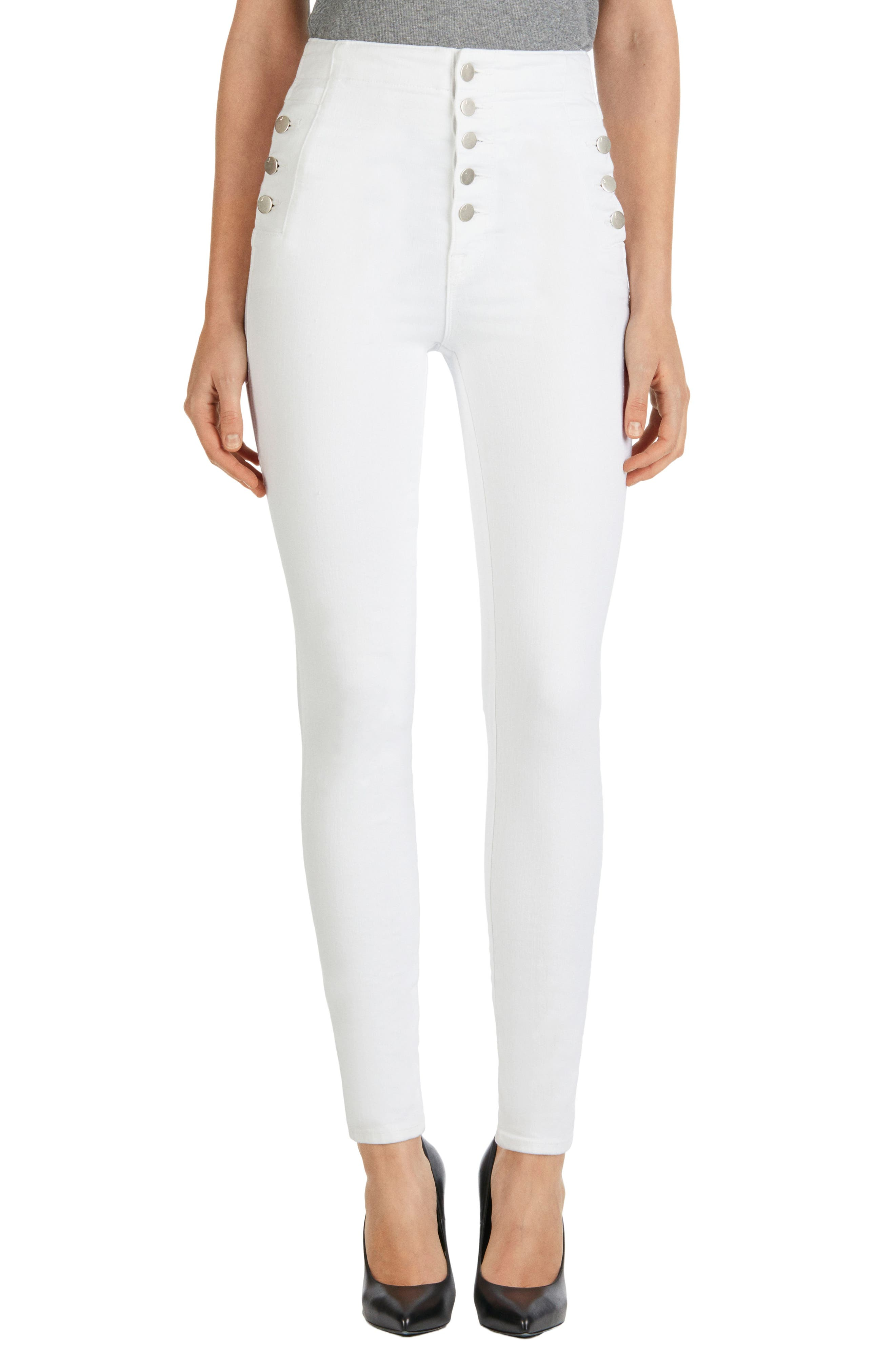 'Natasha Sky High' High Rise Skinny Jeans,                         Main,                         color, 100
