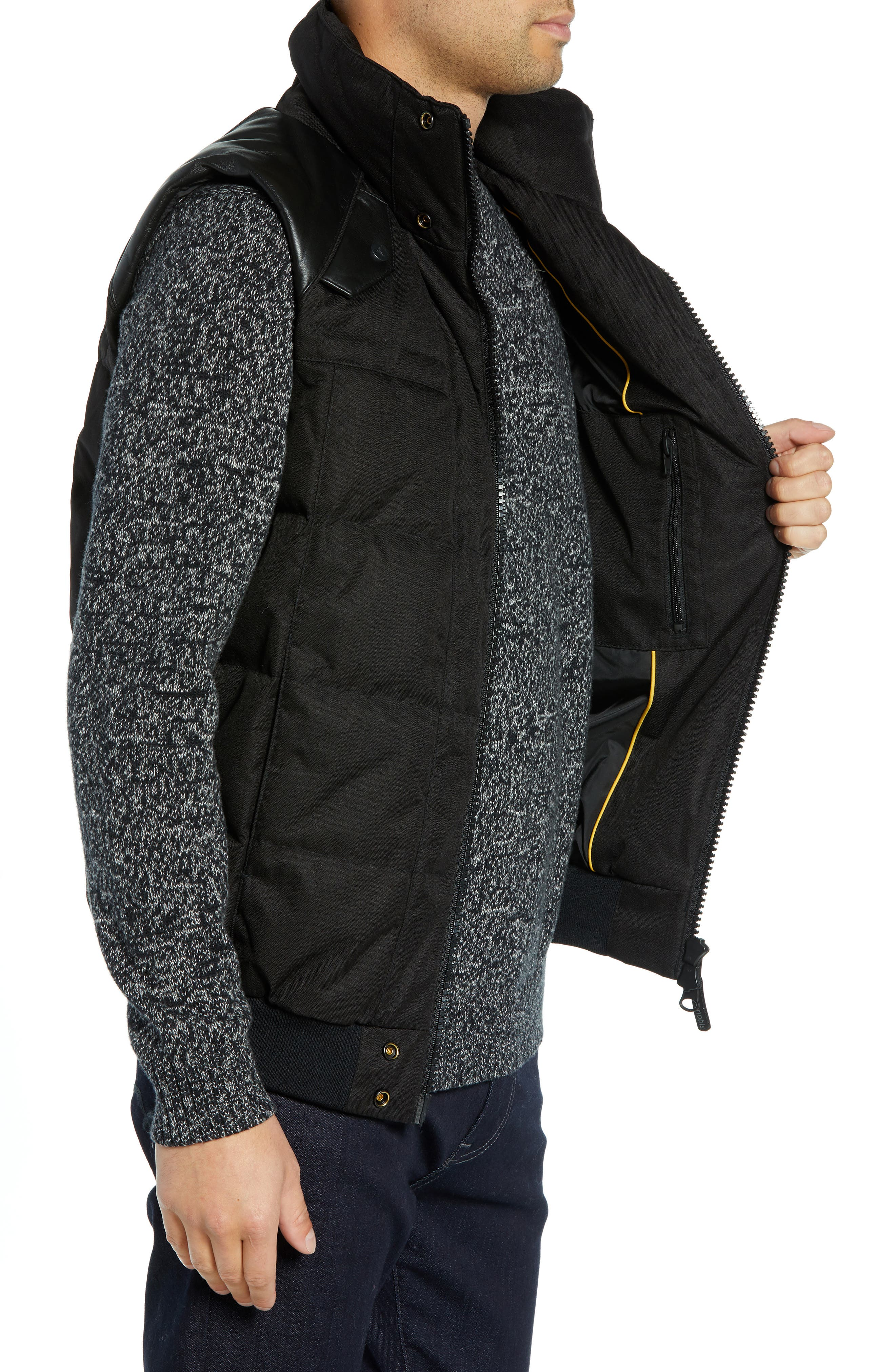 Ricky Bobby Windproof & Waterproof 650-Fill Power Down Puffer Vest,                             Alternate thumbnail 3, color,                             BLACK