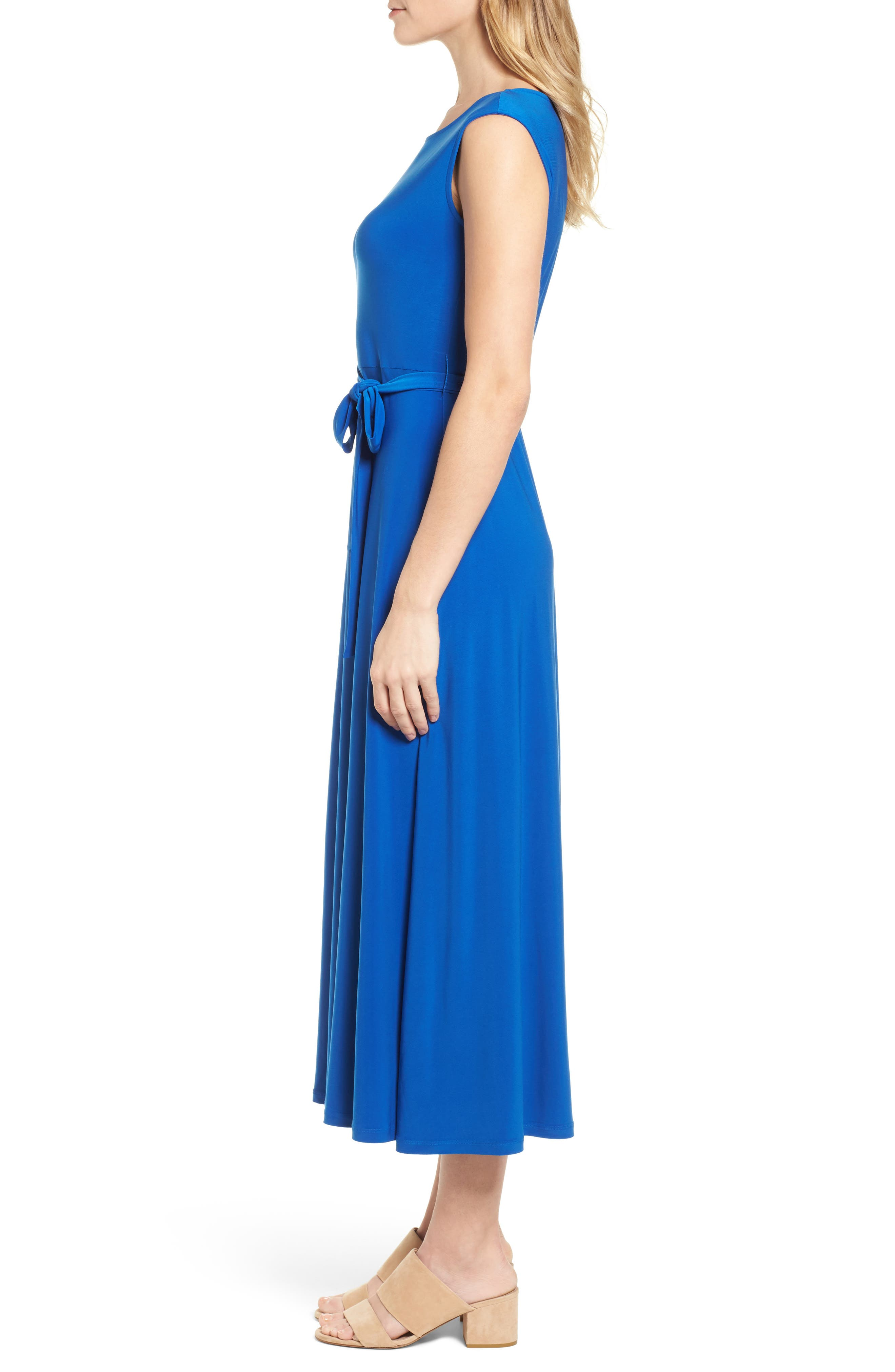 Cap Sleeve Tie Waist Maxi Dress,                             Alternate thumbnail 6, color,