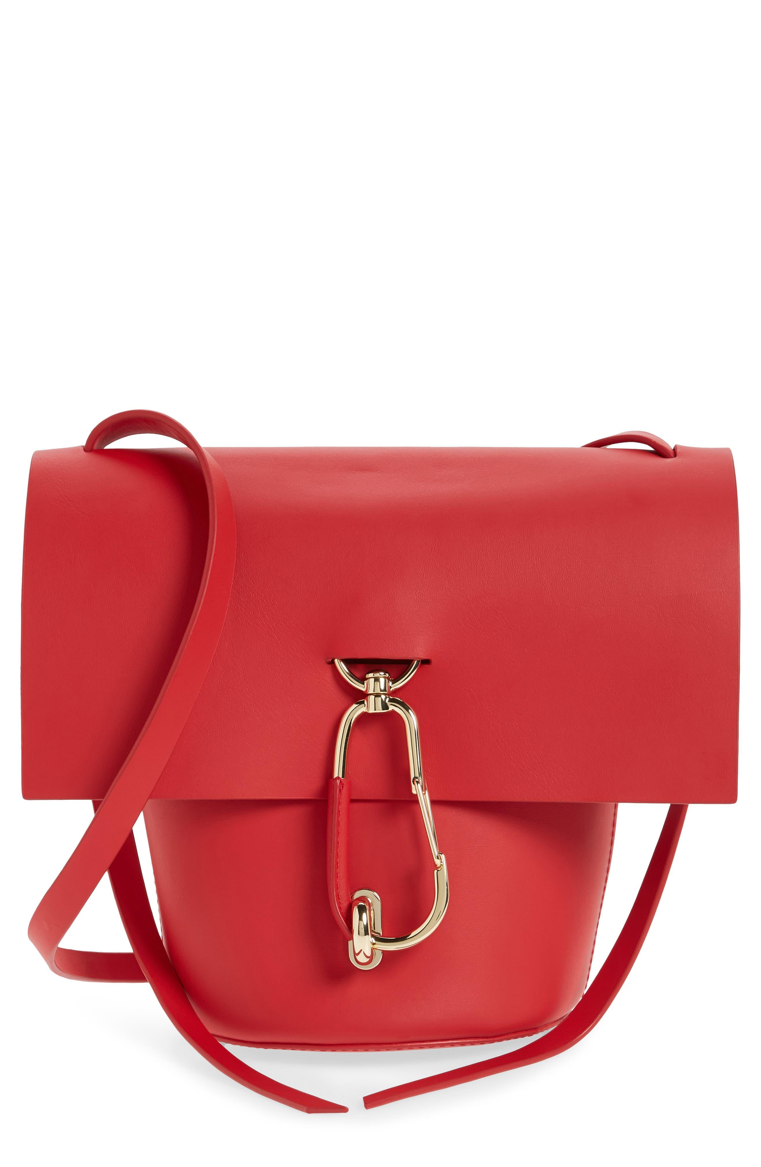 Belay Leather Crossbody Bucket Bag,                             Main thumbnail 1, color,                             620