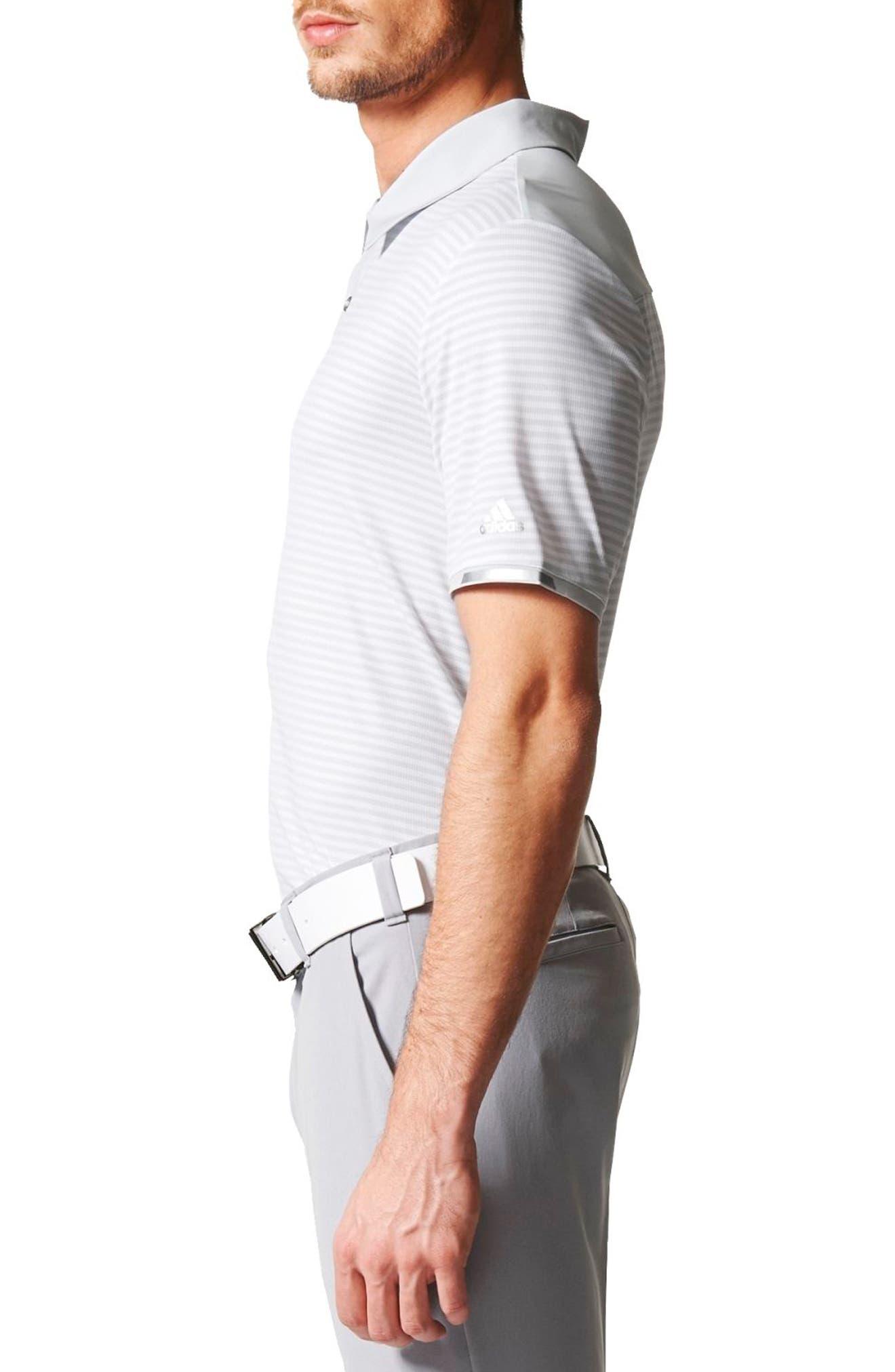 climachill<sup>®</sup> Stripe Golf Polo,                             Alternate thumbnail 3, color,                             065
