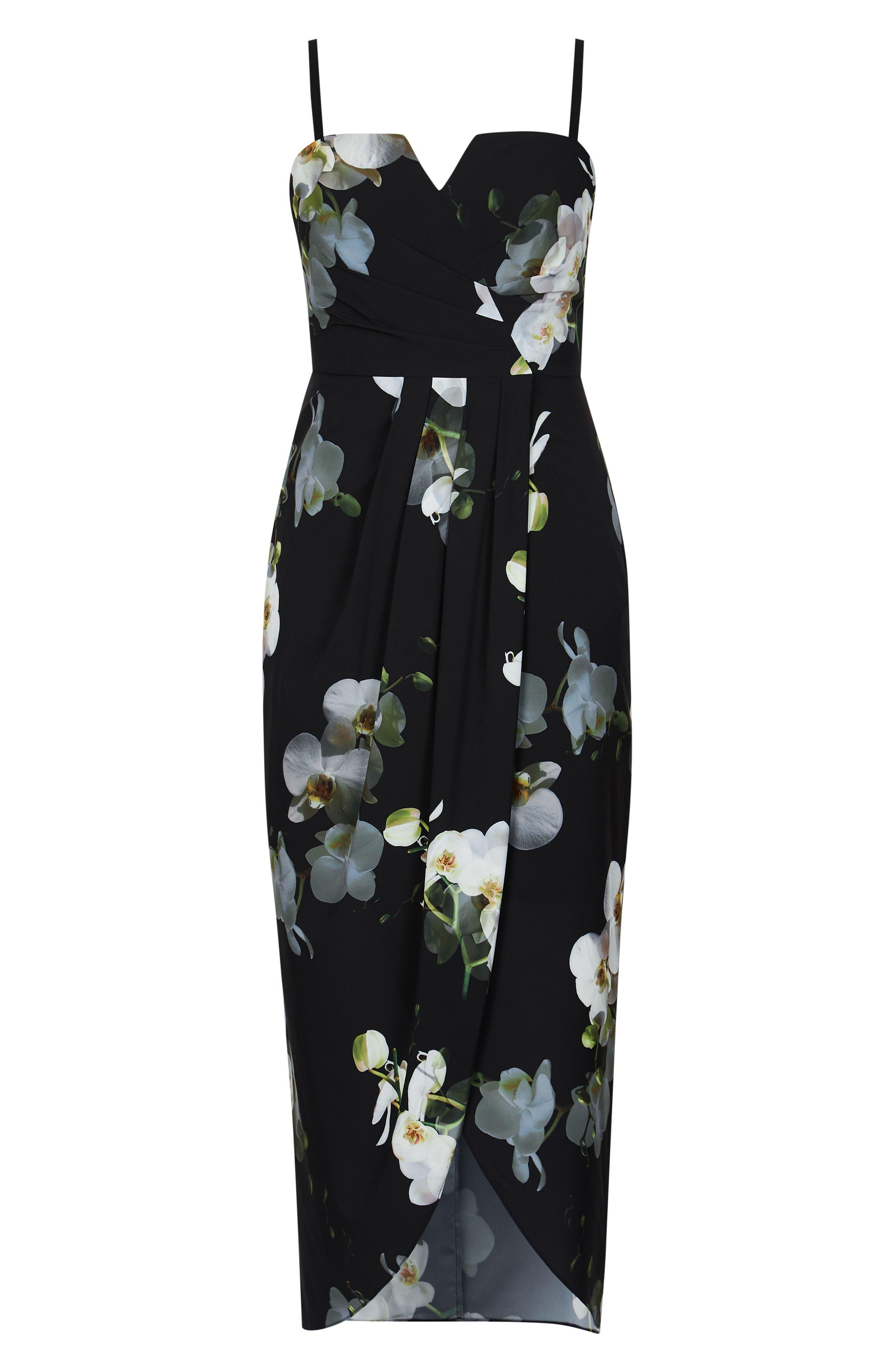 Orchid Dreams Strapless Maxi Dress,                             Alternate thumbnail 5, color,                             ORCHID DREAMS