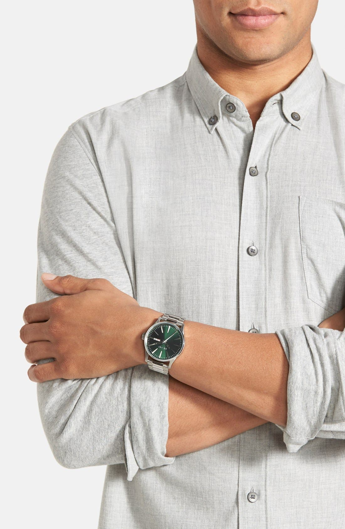 'The Sentry' Round Bracelet Watch, 42mm,                             Alternate thumbnail 3, color,                             043
