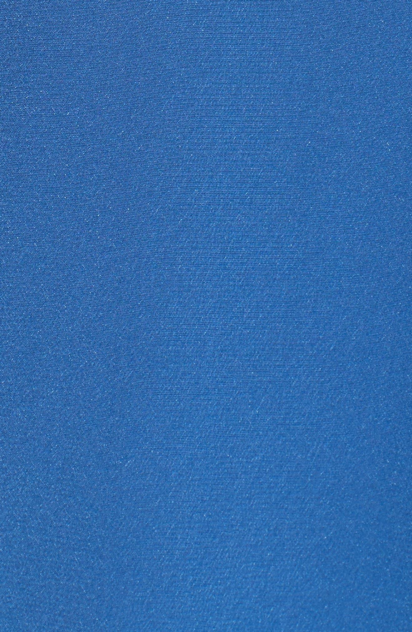 Keira Piped Silk Shirt,                             Alternate thumbnail 5, color,                             LETTERMAN BLUE