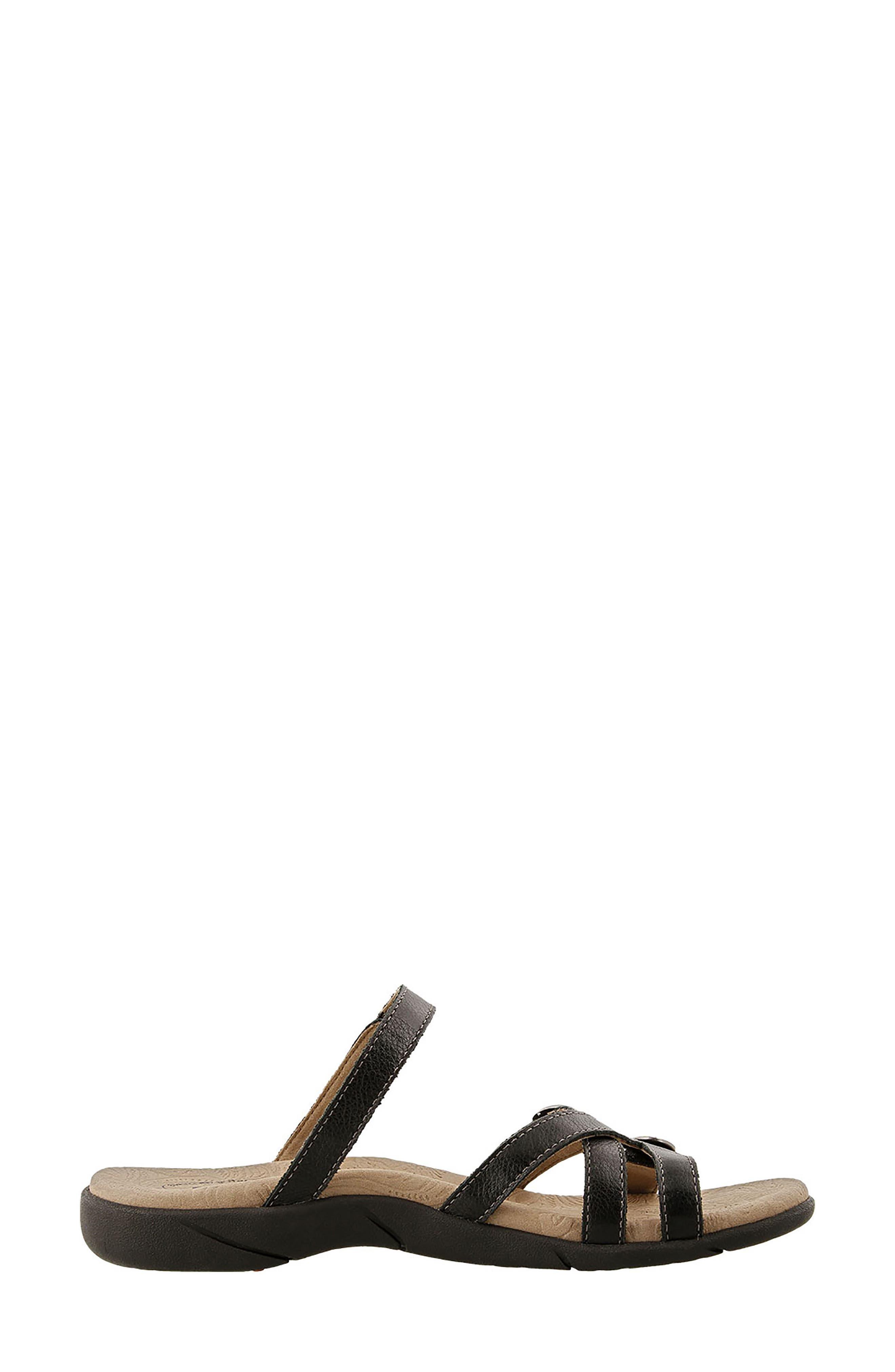 Captive Sandal,                             Alternate thumbnail 3, color,                             BLACK LEATHER