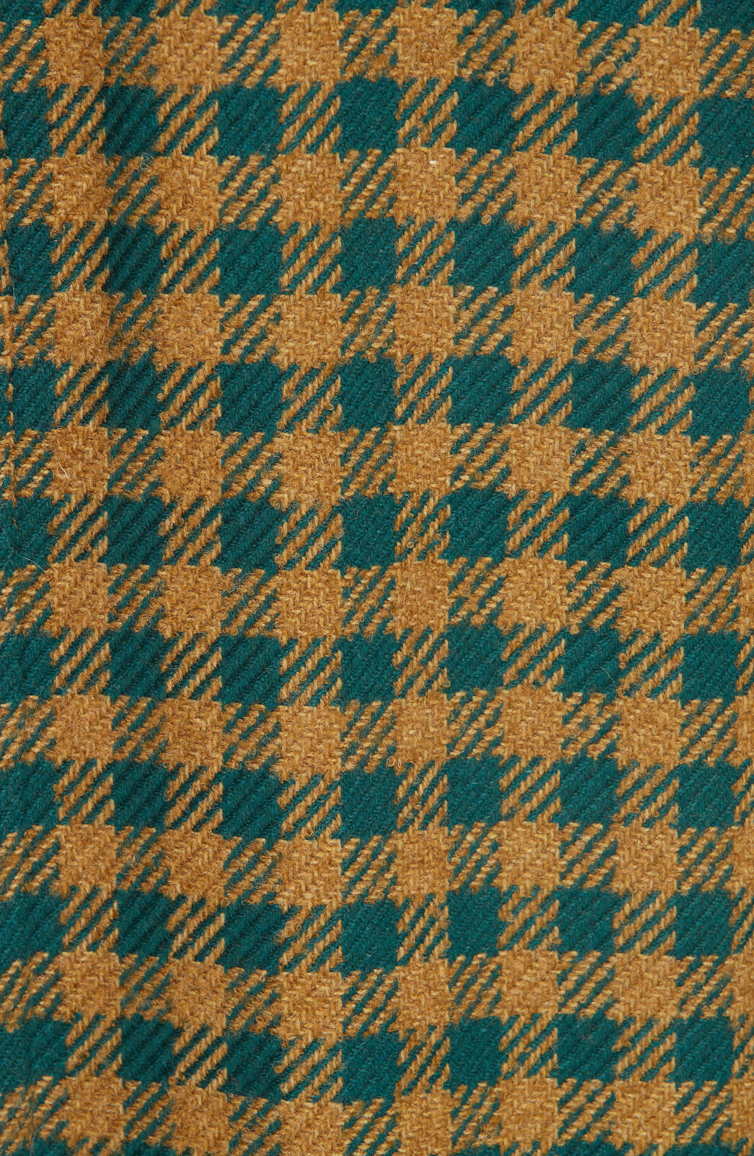 Ethno Pop Check Boyfriend Coat,                             Alternate thumbnail 6, color,                             GREEN CHECK