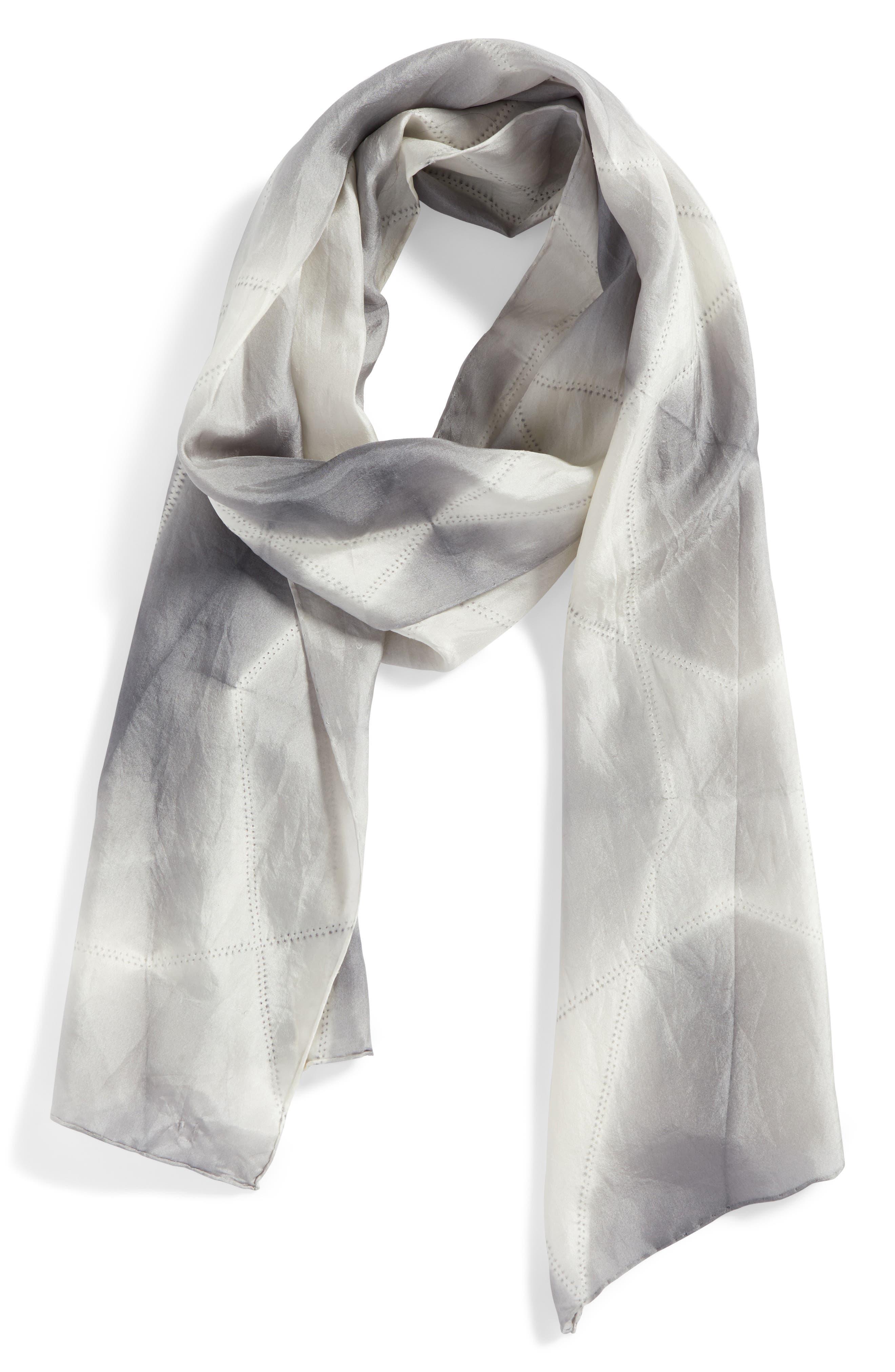 Tie Dye Silk Scarf,                             Alternate thumbnail 2, color,                             031