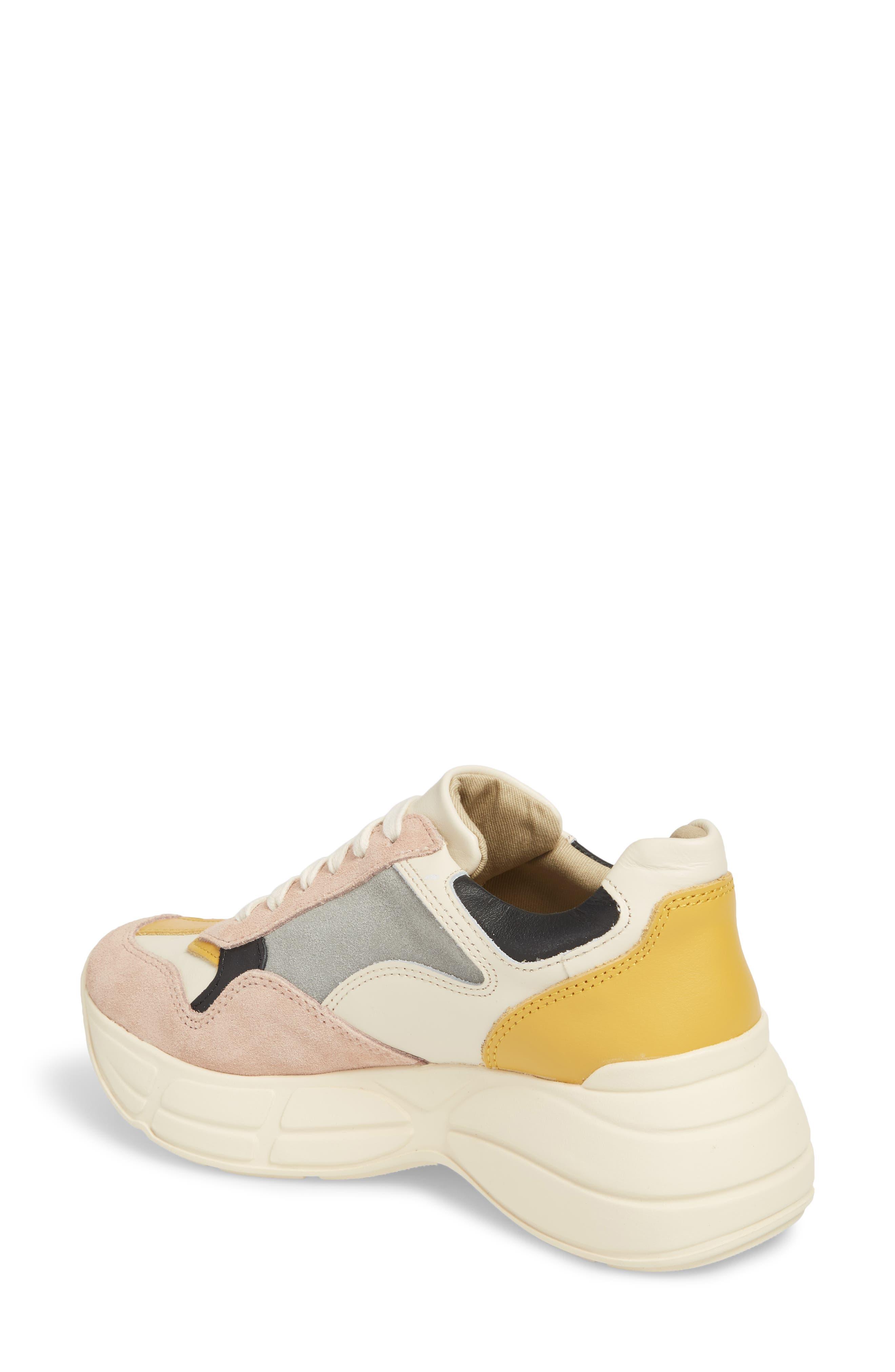 Memory Platform Wedge Sneaker,                             Alternate thumbnail 2, color,                             PINK MULTI