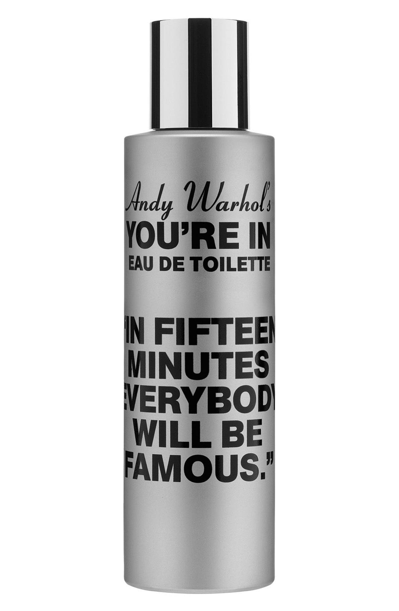 Andy Warhol You're In Unisex Eau de Toilette,                             Main thumbnail 1, color,                             IN FIFTEEN MINUTES